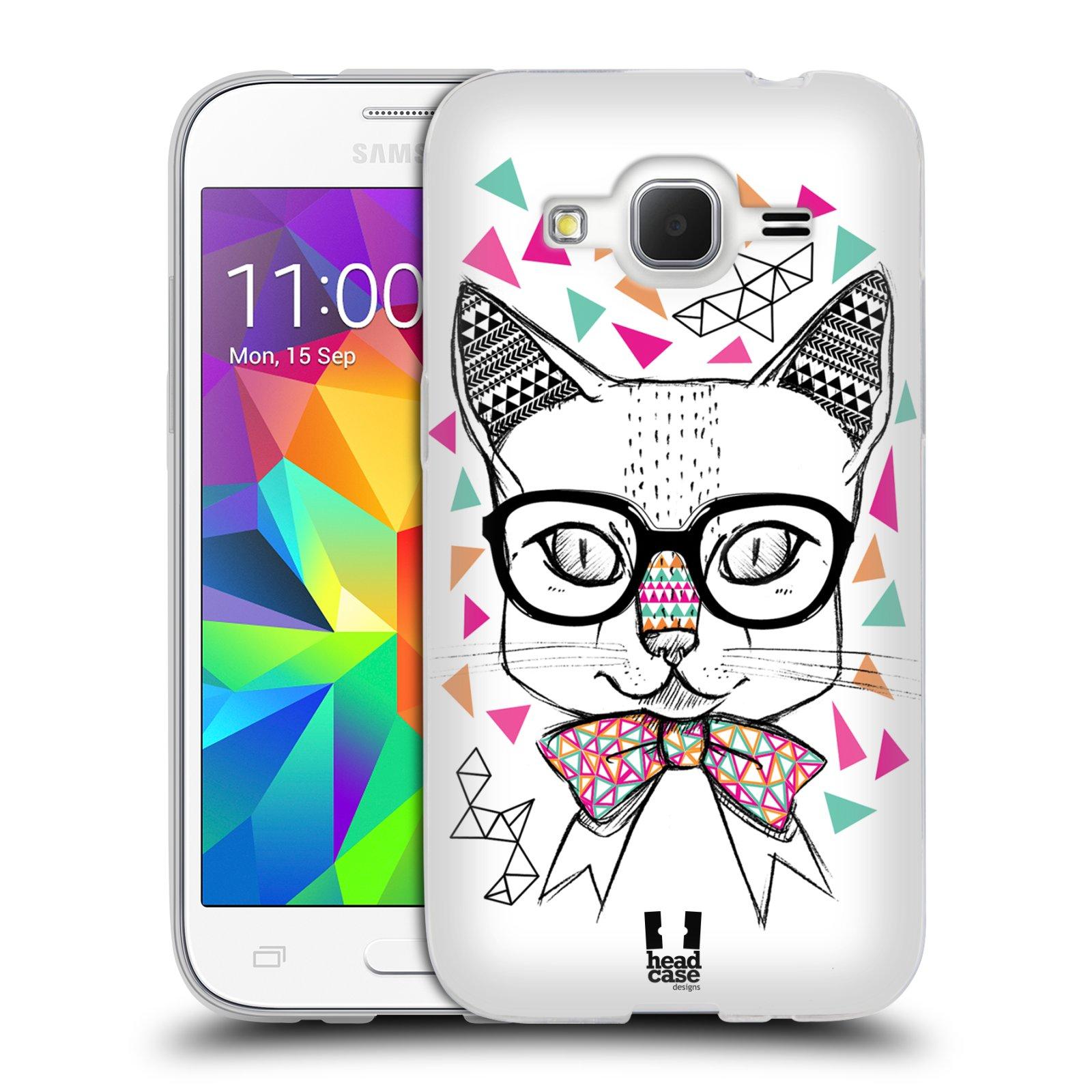 Silikonové pouzdro na mobil Samsung Galaxy Core Prime VE HEAD CASE AZTEC KOČIČKA