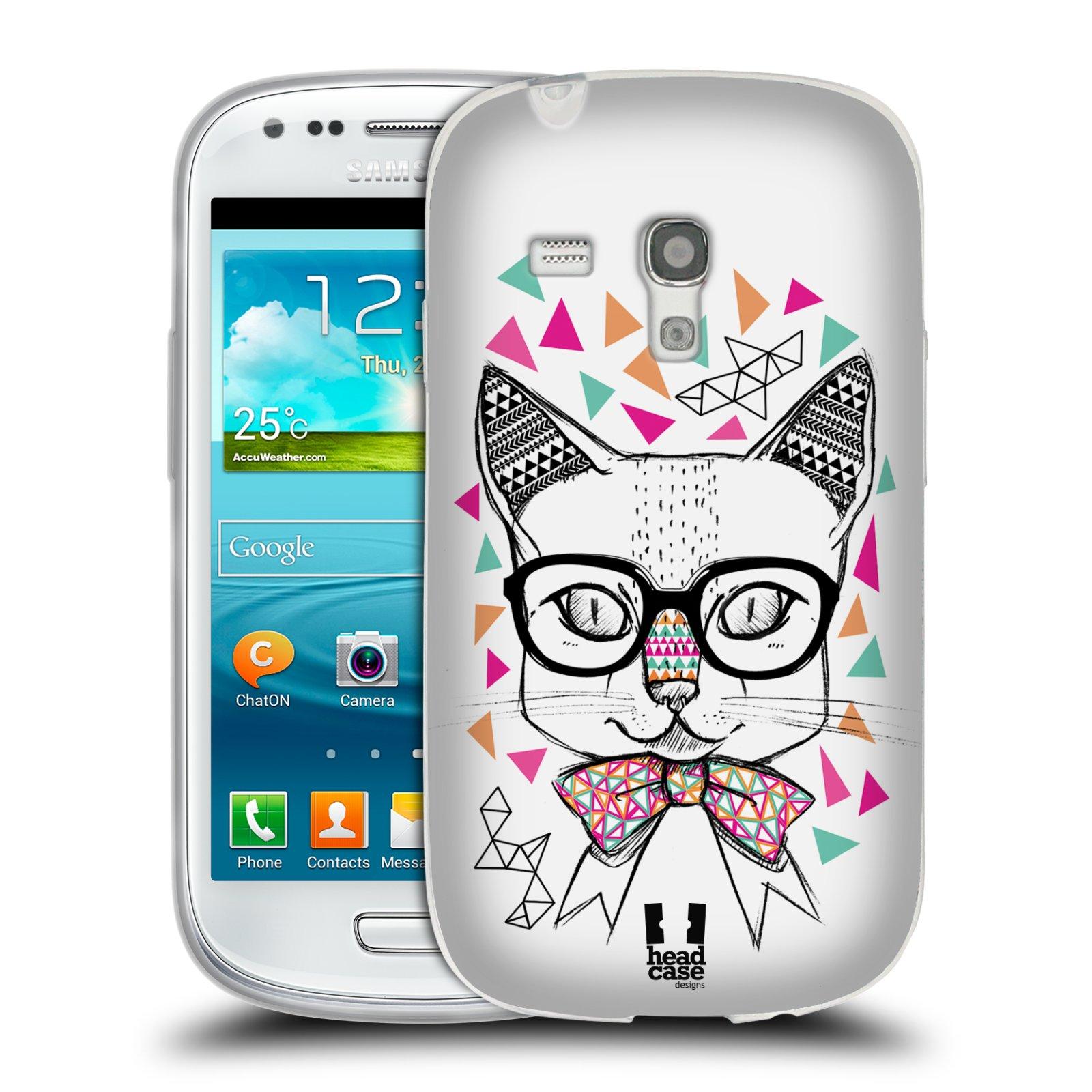 Silikonové pouzdro na mobil Samsung Galaxy S III Mini HEAD CASE AZTEC KOČIČKA (Silikonový kryt či obal na mobilní telefon Samsung Galaxy S III Mini GT-i8190)