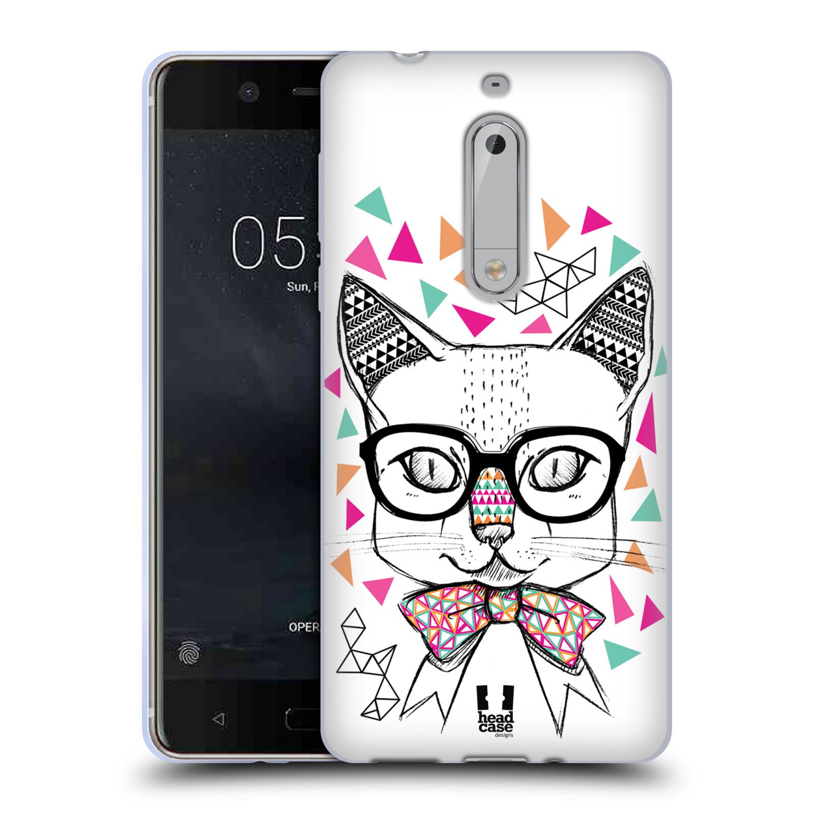 Silikonové pouzdro na mobil Nokia 5 Head Case - AZTEC KOČIČKA