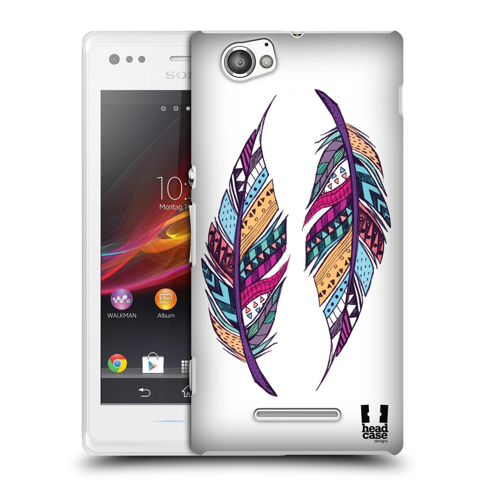 Plastové pouzdro na mobil Sony Xperia M C1905 HEAD CASE AZTEC PÍRKA