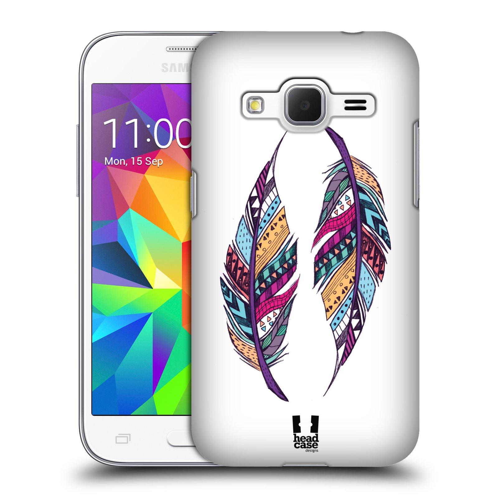 Plastové pouzdro na mobil Samsung Galaxy Core Prime LTE HEAD CASE AZTEC PÍRKA