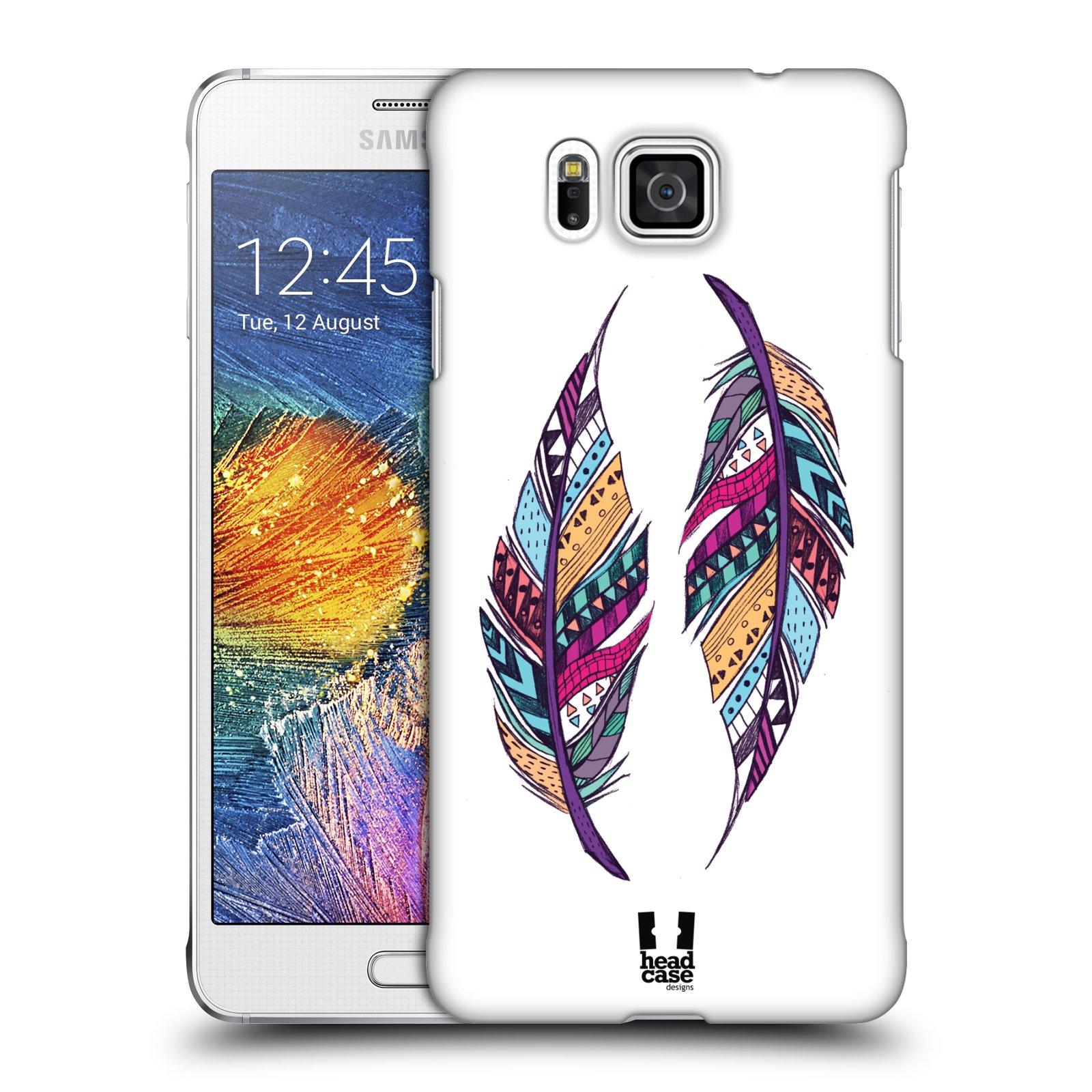 Plastové pouzdro na mobil Samsung Galaxy Alpha HEAD CASE AZTEC PÍRKA