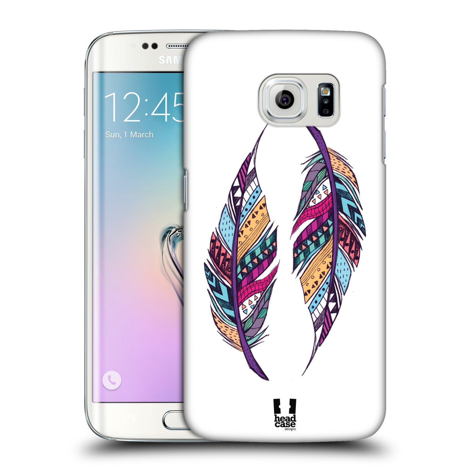 Plastové pouzdro na mobil Samsung Galaxy S6 Edge HEAD CASE AZTEC PÍRKA
