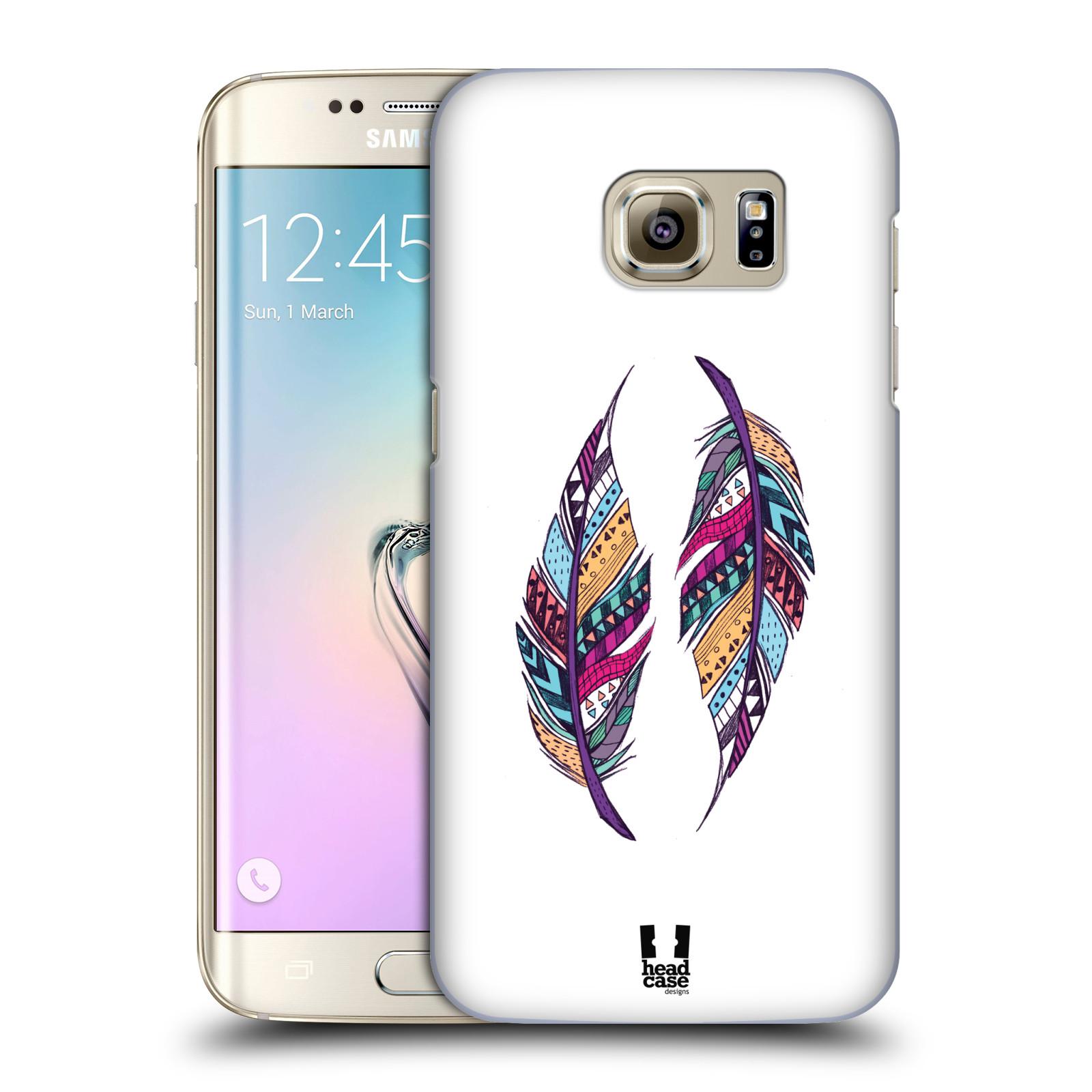 Plastové pouzdro na mobil Samsung Galaxy S7 Edge HEAD CASE AZTEC PÍRKA