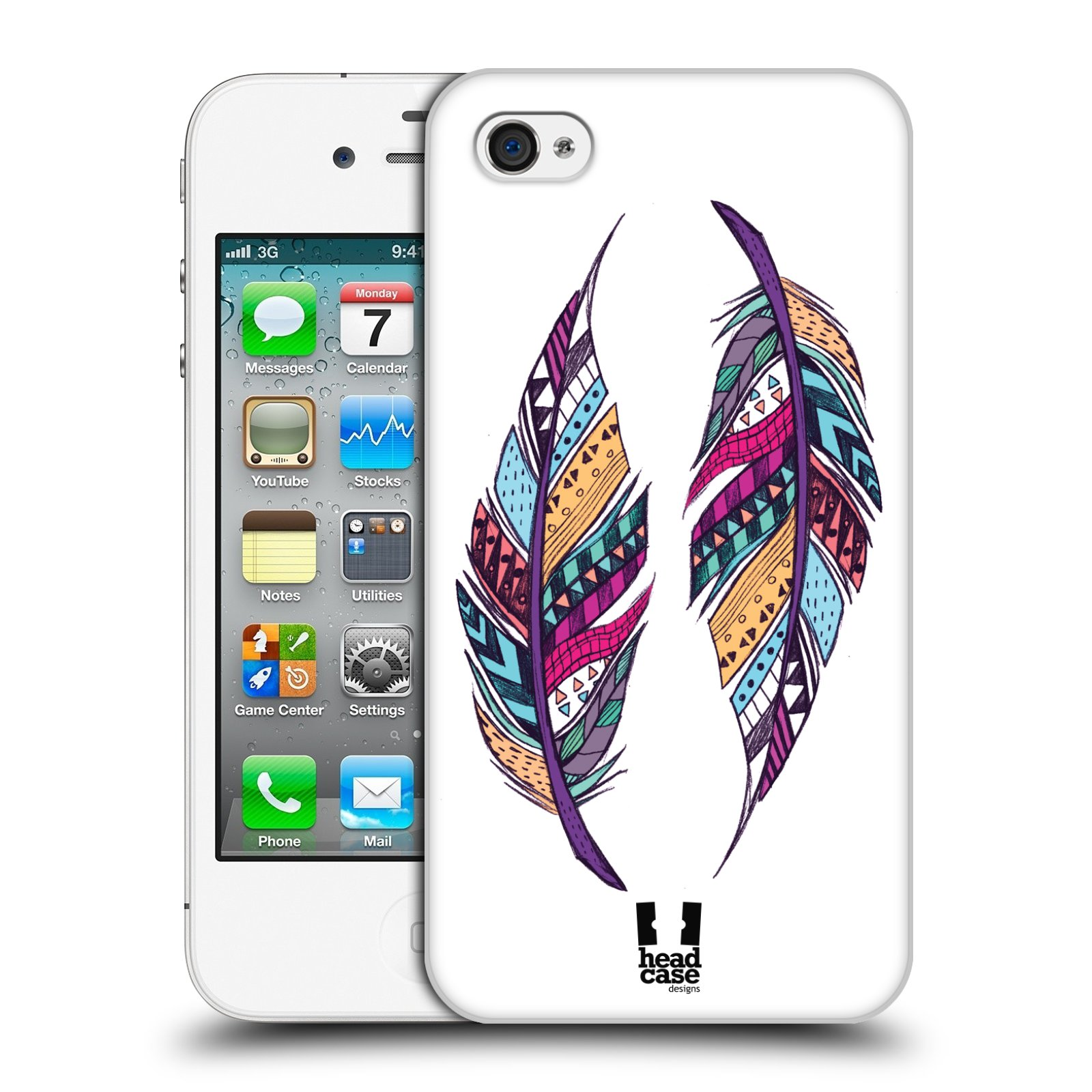 Plastové pouzdro na mobil Apple iPhone 4 a 4S HEAD CASE AZTEC PÍRKA