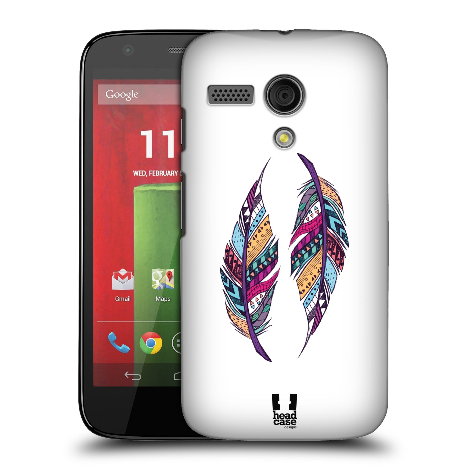 Plastové pouzdro na mobil Motorola Moto G HEAD CASE AZTEC PÍRKA (Kryt či obal na mobilní telefon Motorola Moto G)