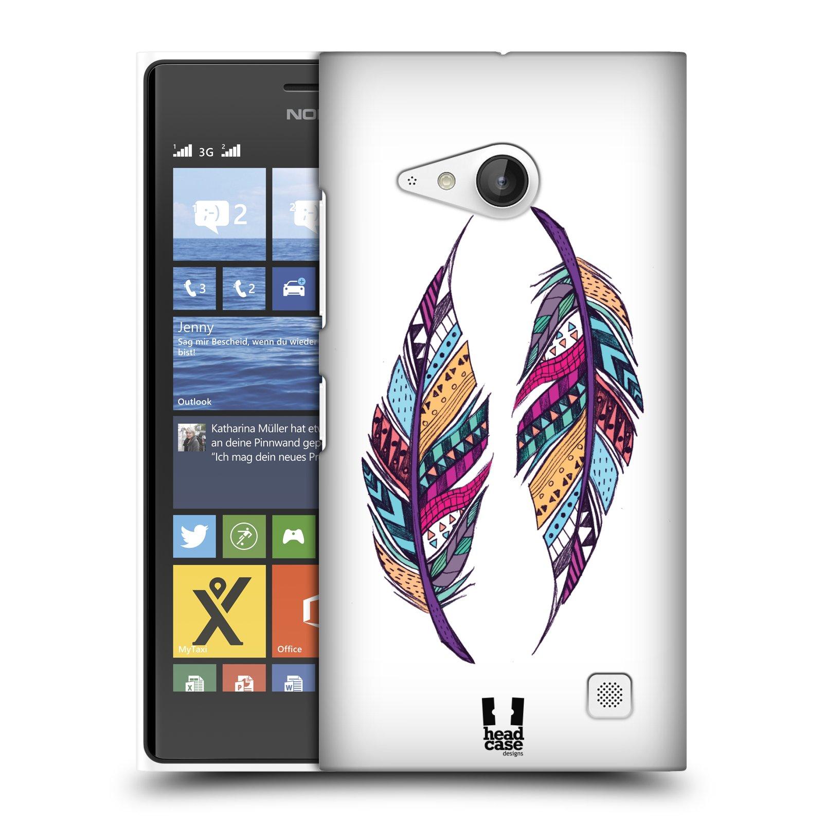 Plastové pouzdro na mobil Nokia Lumia 730 Dual SIM HEAD CASE AZTEC PÍRKA