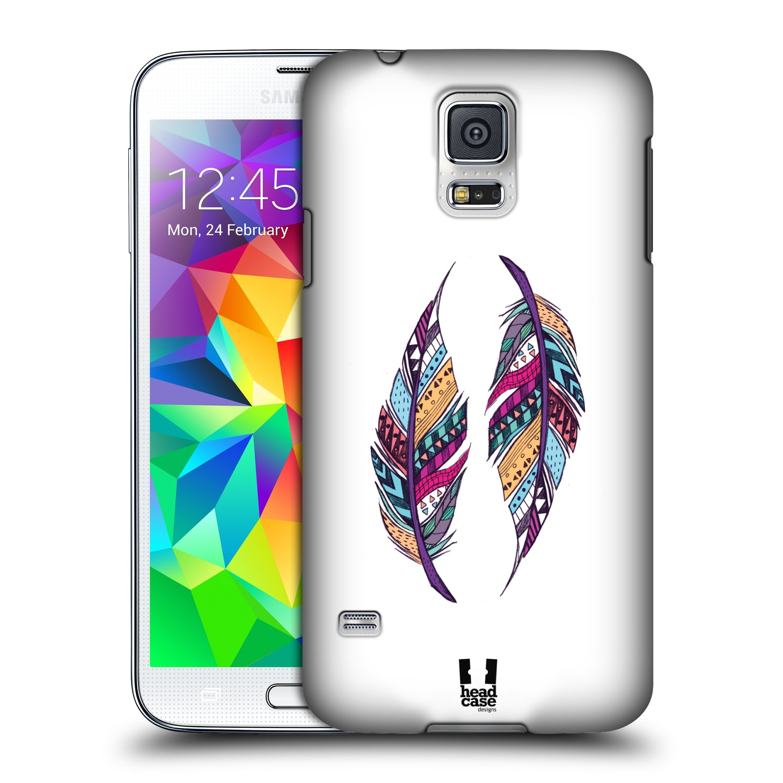 Plastové pouzdro na mobil Samsung Galaxy S5 HEAD CASE AZTEC PÍRKA