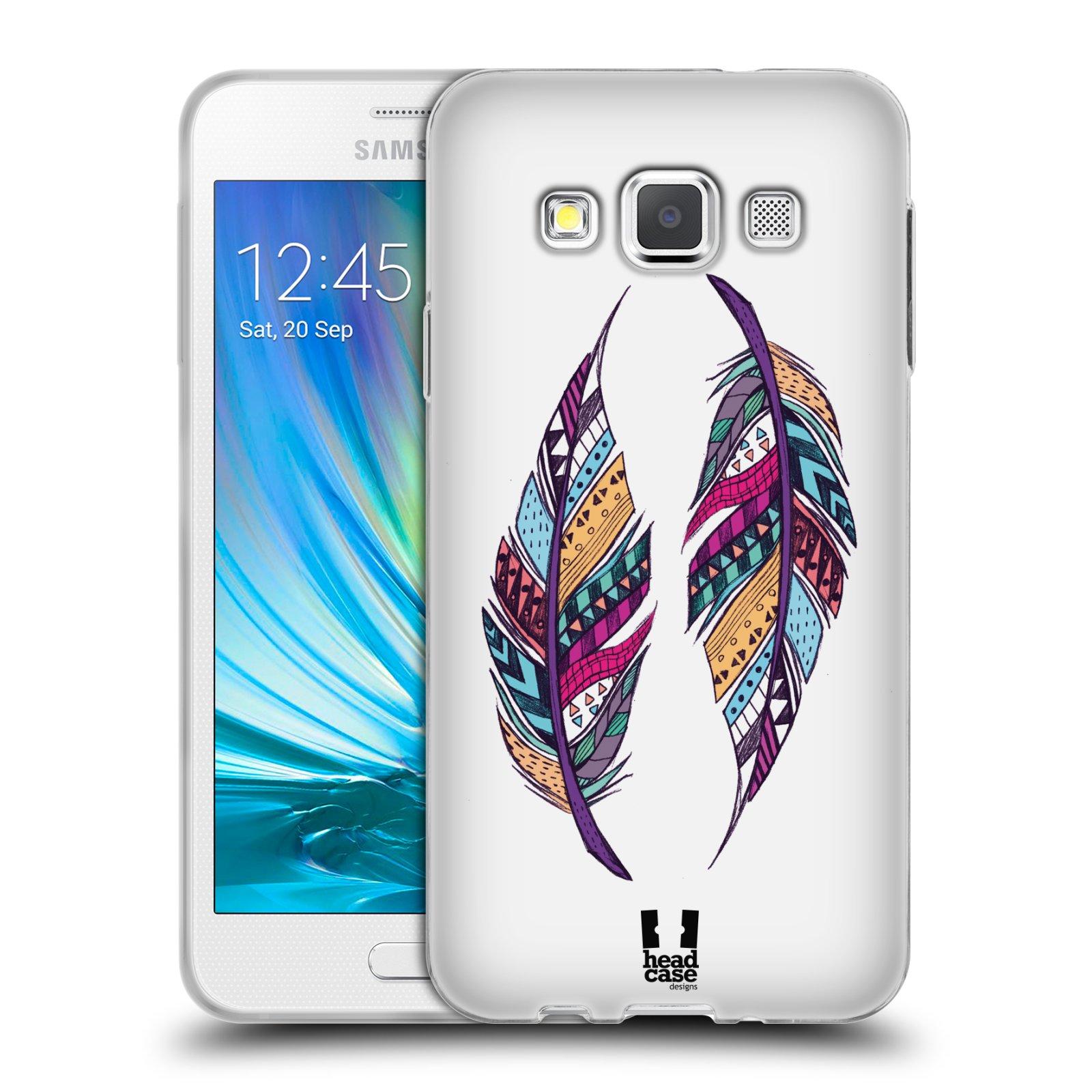 Silikonové pouzdro na mobil Samsung Galaxy A3 HEAD CASE AZTEC PÍRKA