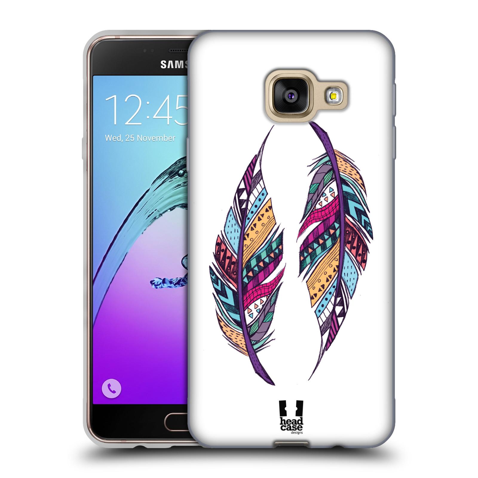 Silikonové pouzdro na mobil Samsung Galaxy A3 (2016) HEAD CASE AZTEC PÍRKA