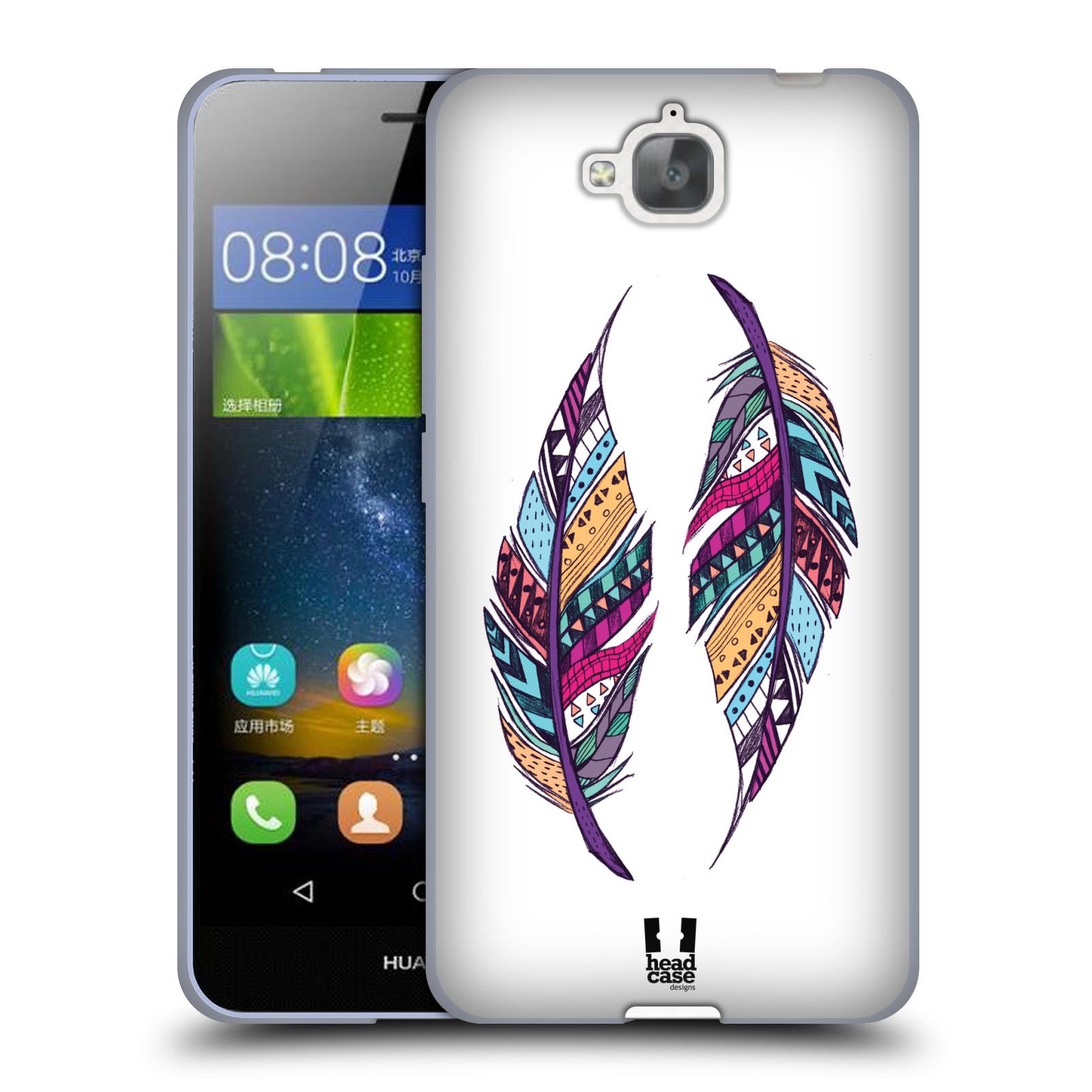 Silikonové pouzdro na mobil Huawei Y6 Pro Dual Sim HEAD CASE AZTEC PÍRKA