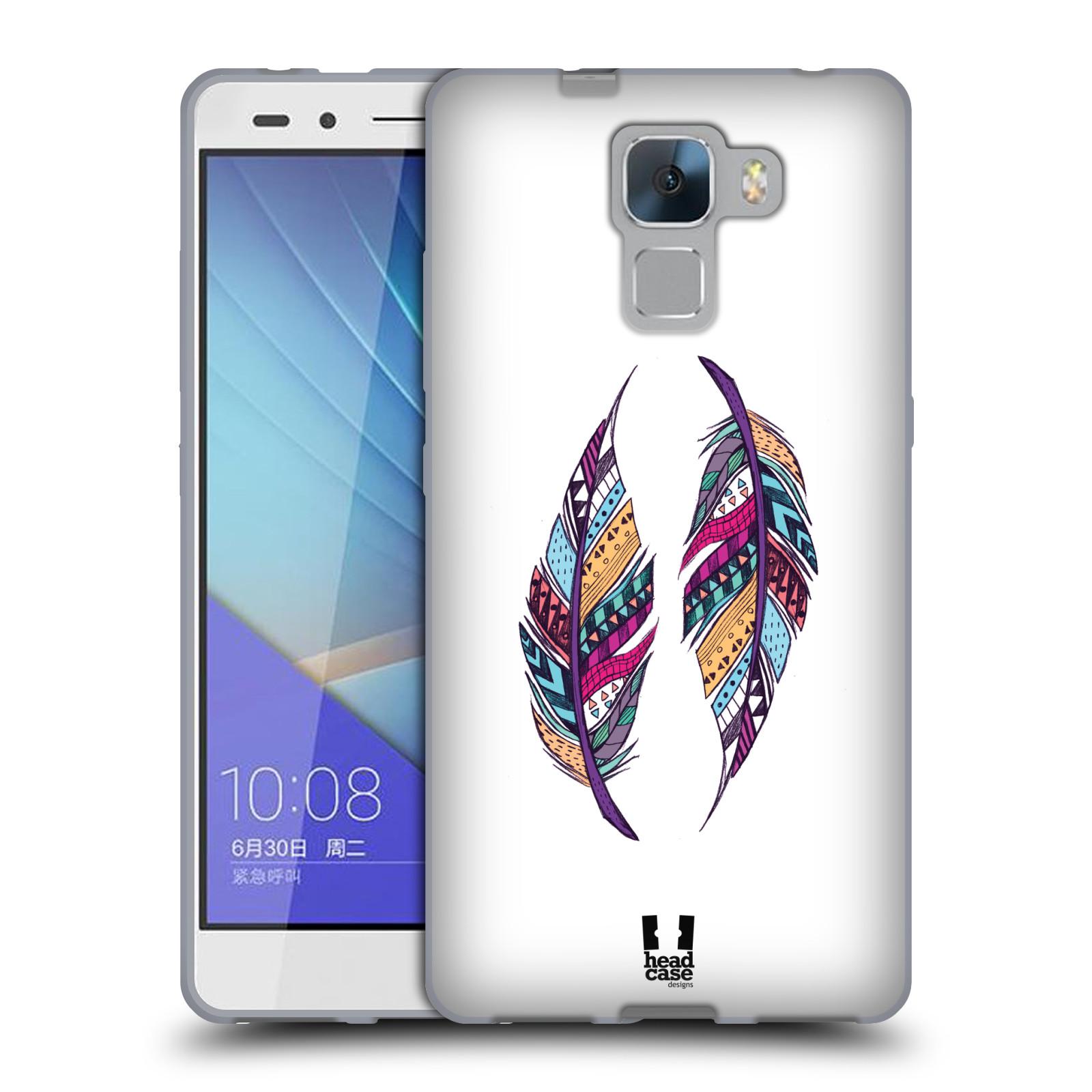 Silikonové pouzdro na mobil Honor 7 HEAD CASE AZTEC PÍRKA