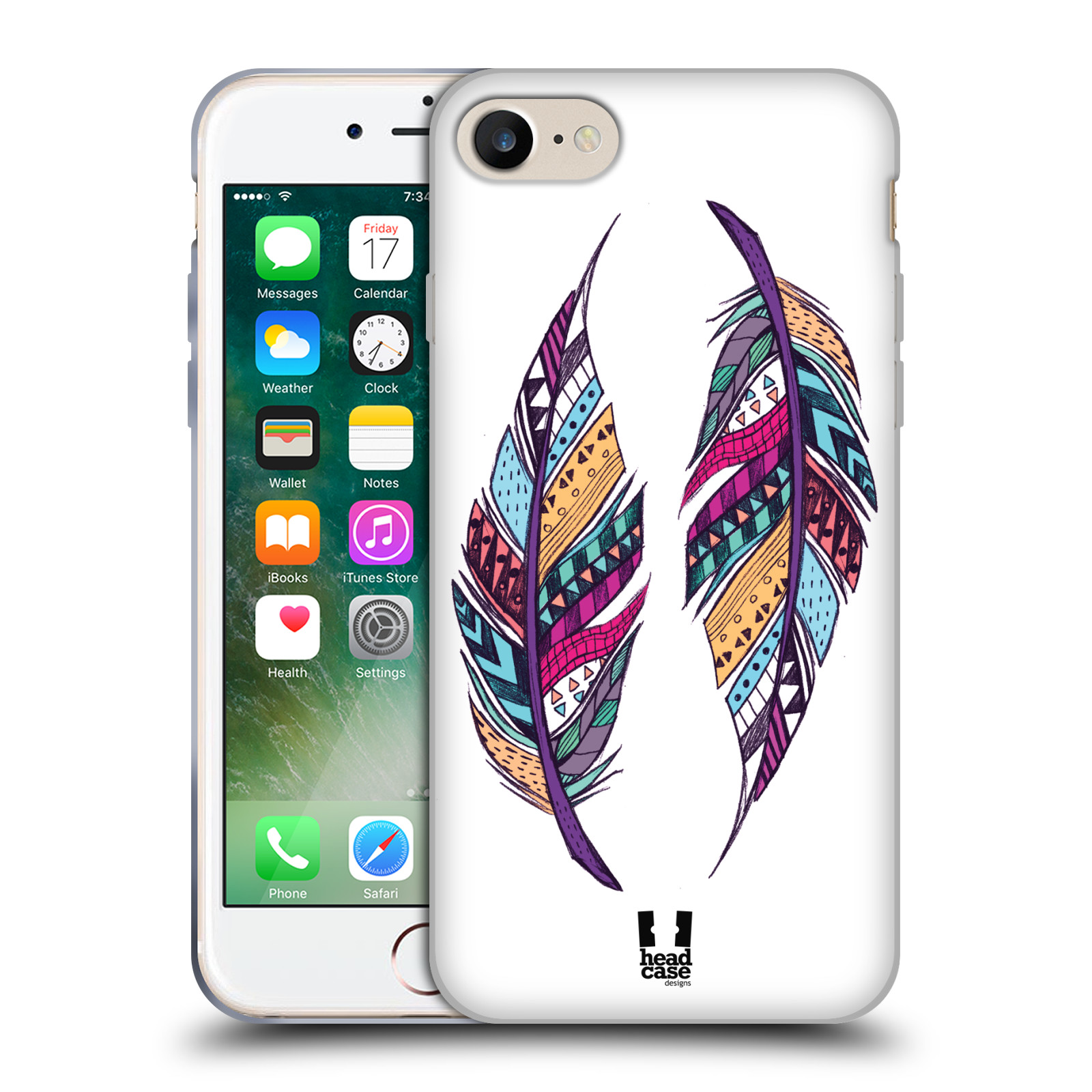 Silikonové pouzdro na mobil Apple iPhone 7 HEAD CASE AZTEC PÍRKA