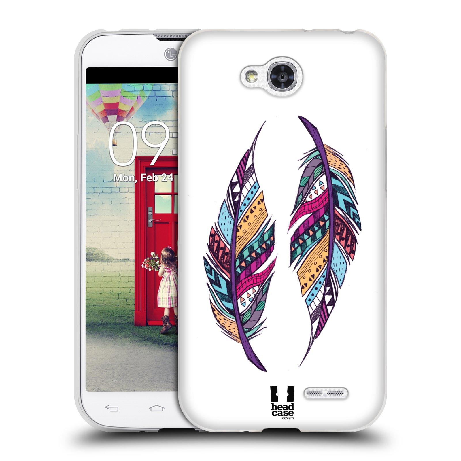 Silikonové pouzdro na mobil LG L90 HEAD CASE AZTEC PÍRKA (Silikonový kryt či obal na mobilní telefon LG L90 D405n)
