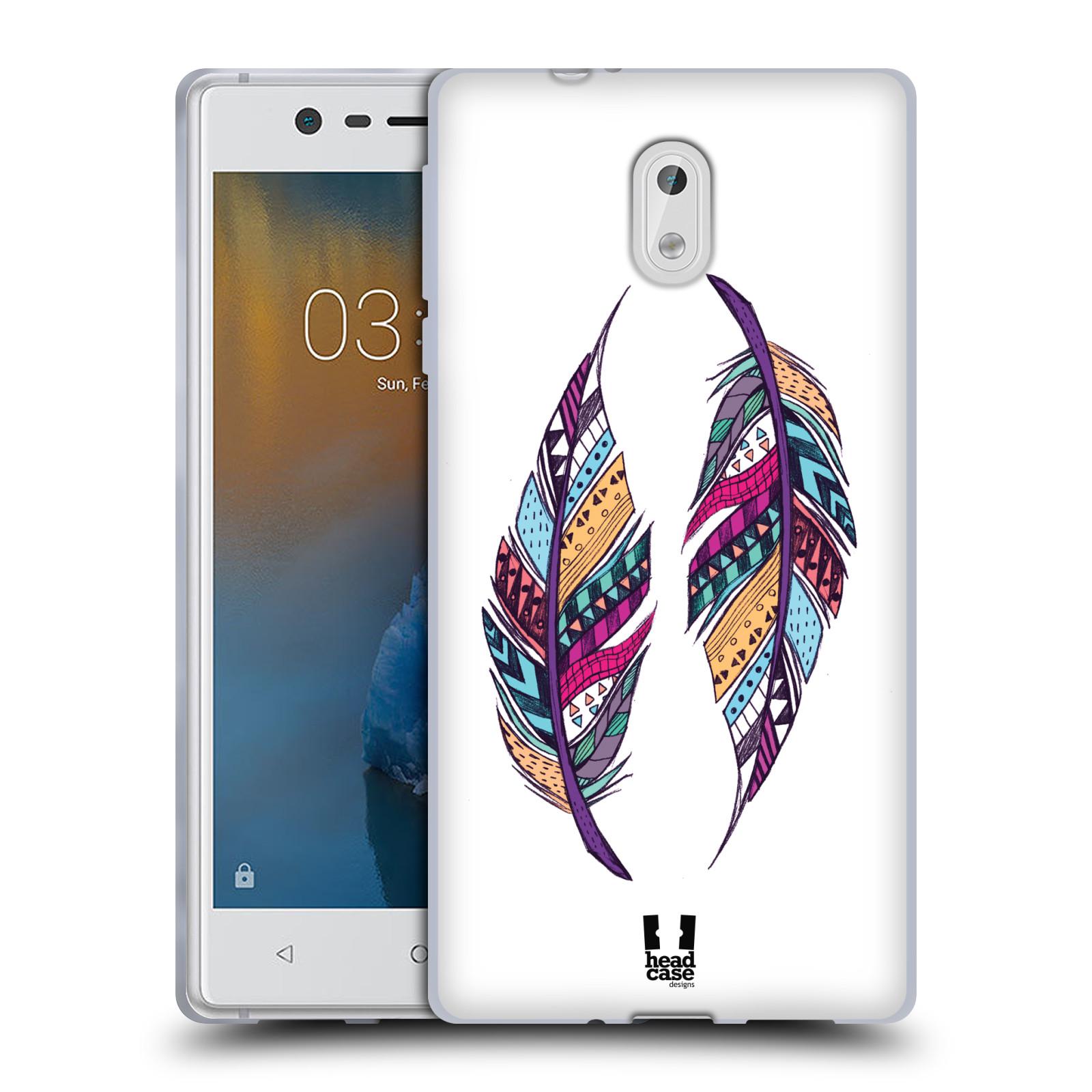 Silikonové pouzdro na mobil Nokia 3 Head Case - AZTEC PÍRKA