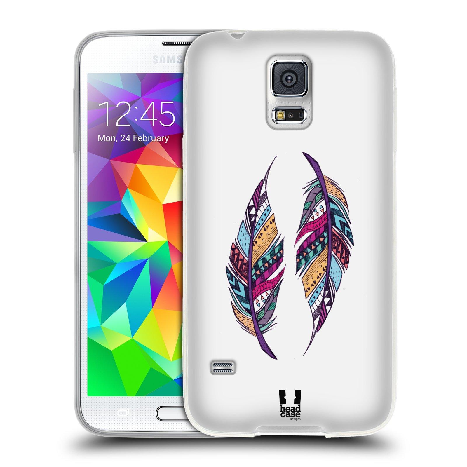 Silikonové pouzdro na mobil Samsung Galaxy S5 HEAD CASE AZTEC PÍRKA