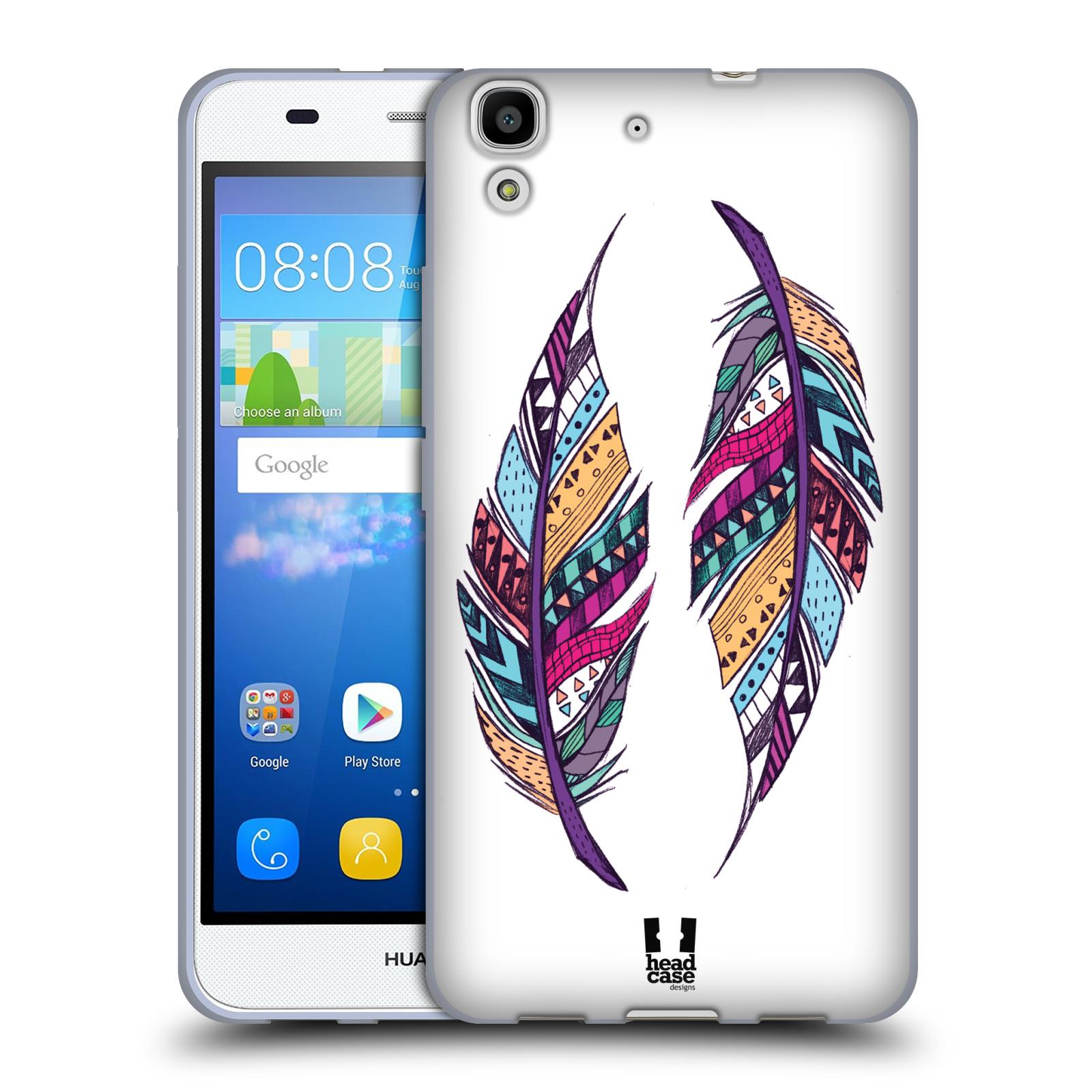 Silikonové pouzdro na mobil Huawei Y6 HEAD CASE AZTEC PÍRKA