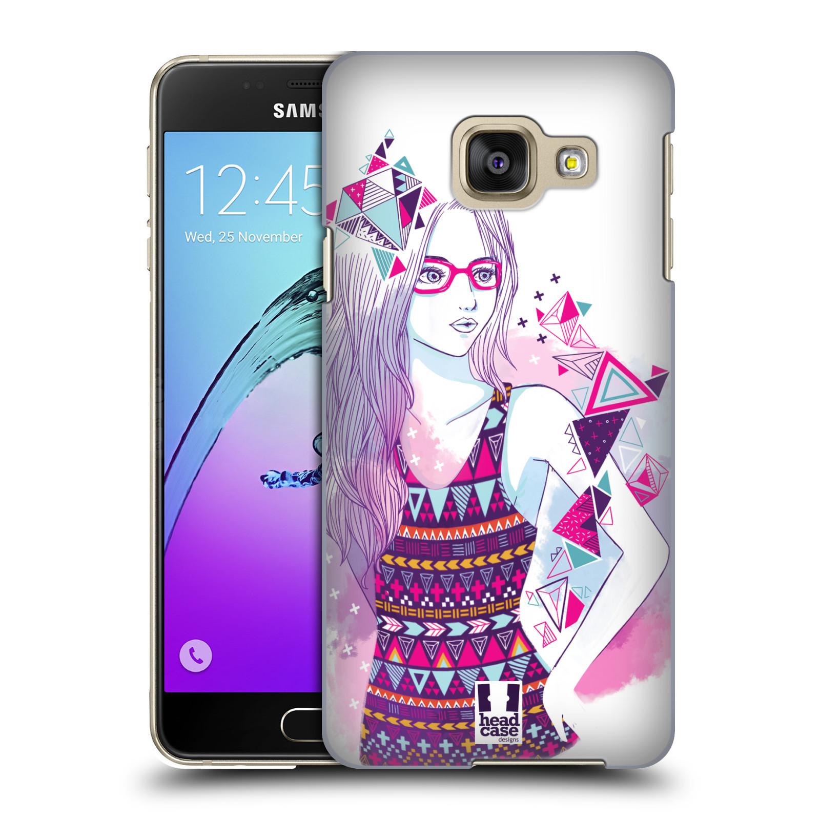 Plastové pouzdro na mobil Samsung Galaxy A3 (2016) HEAD CASE AZTEC HOLKA