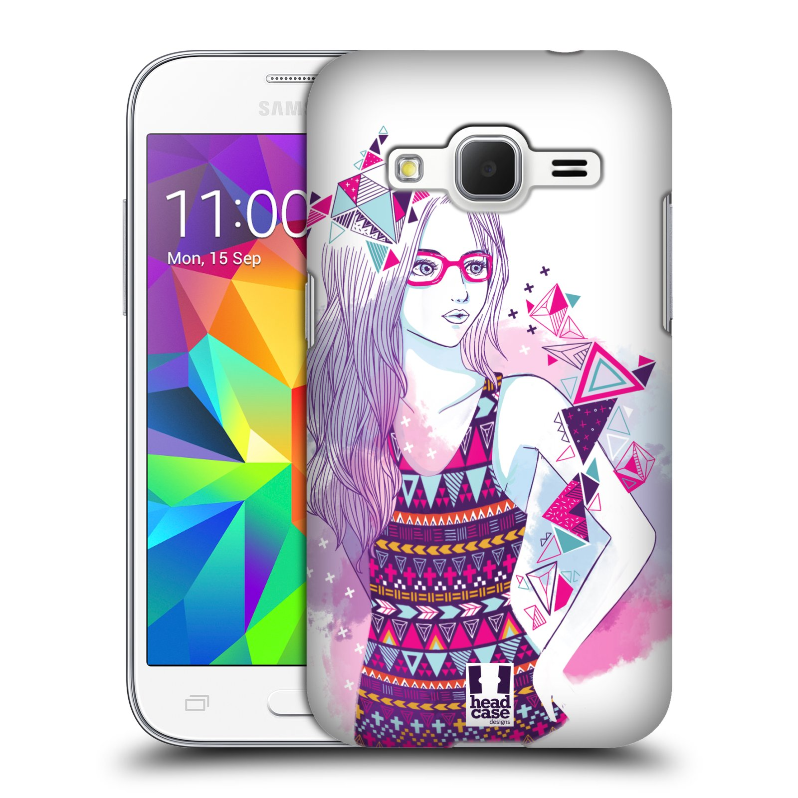 Plastové pouzdro na mobil Samsung Galaxy Core Prime VE HEAD CASE AZTEC HOLKA