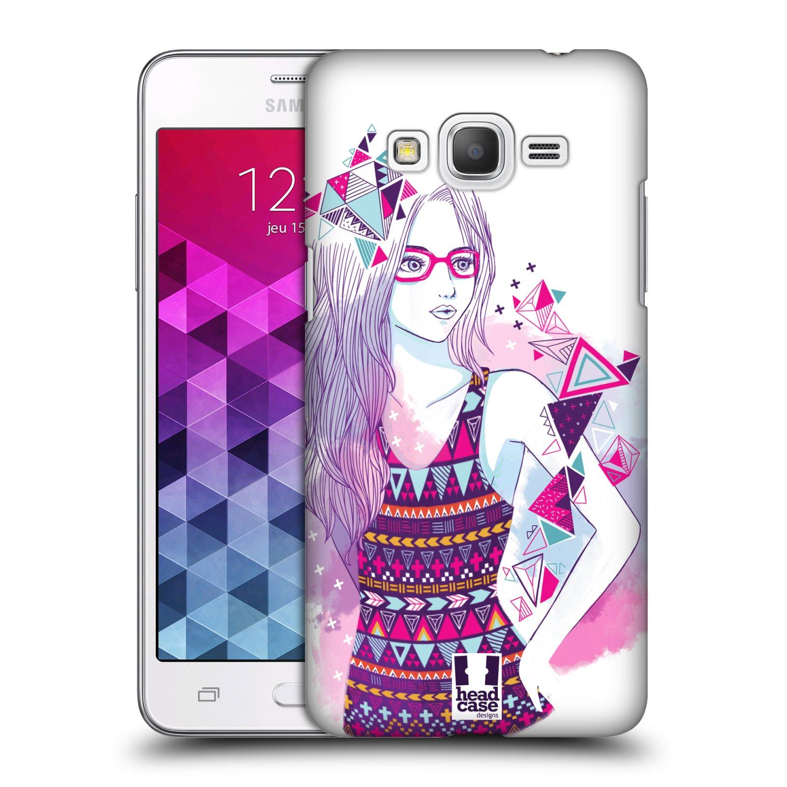Plastové pouzdro na mobil Samsung Galaxy Grand Prime VE HEAD CASE AZTEC HOLKA