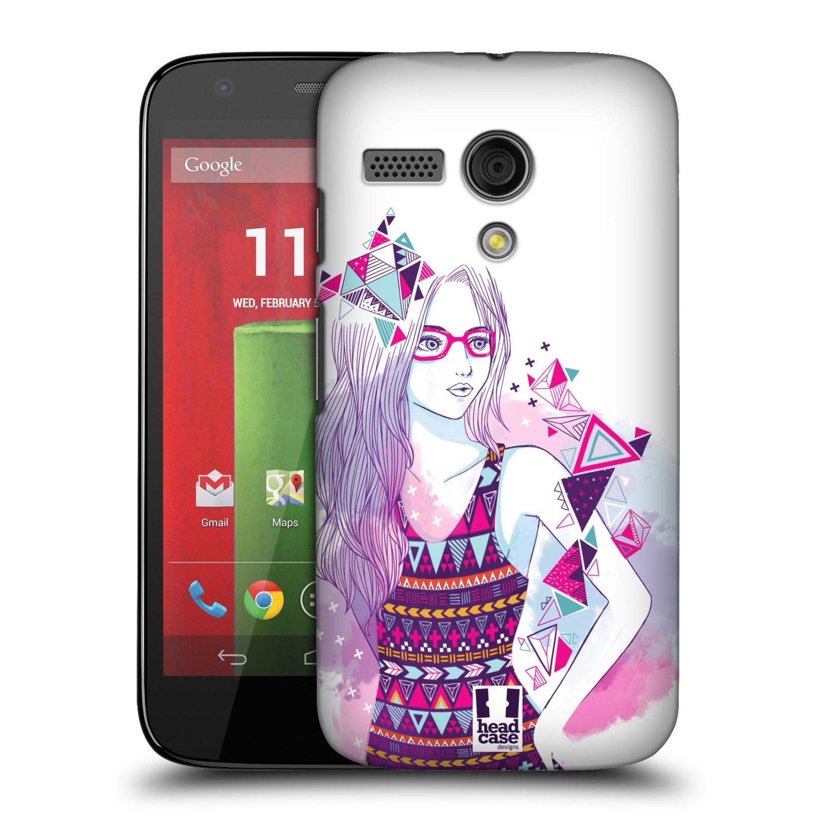 Plastové pouzdro na mobil Motorola Moto G HEAD CASE AZTEC HOLKA (Kryt či obal na mobilní telefon Motorola Moto G)