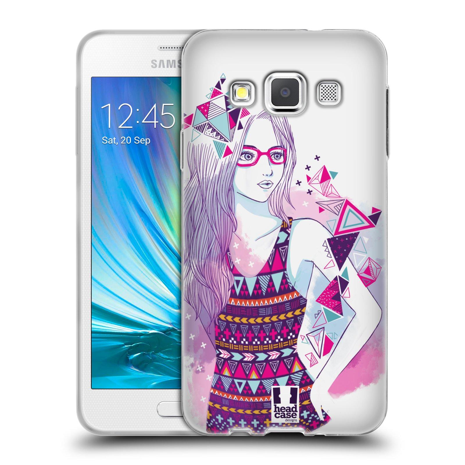 Silikonové pouzdro na mobil Samsung Galaxy A3 HEAD CASE AZTEC HOLKA