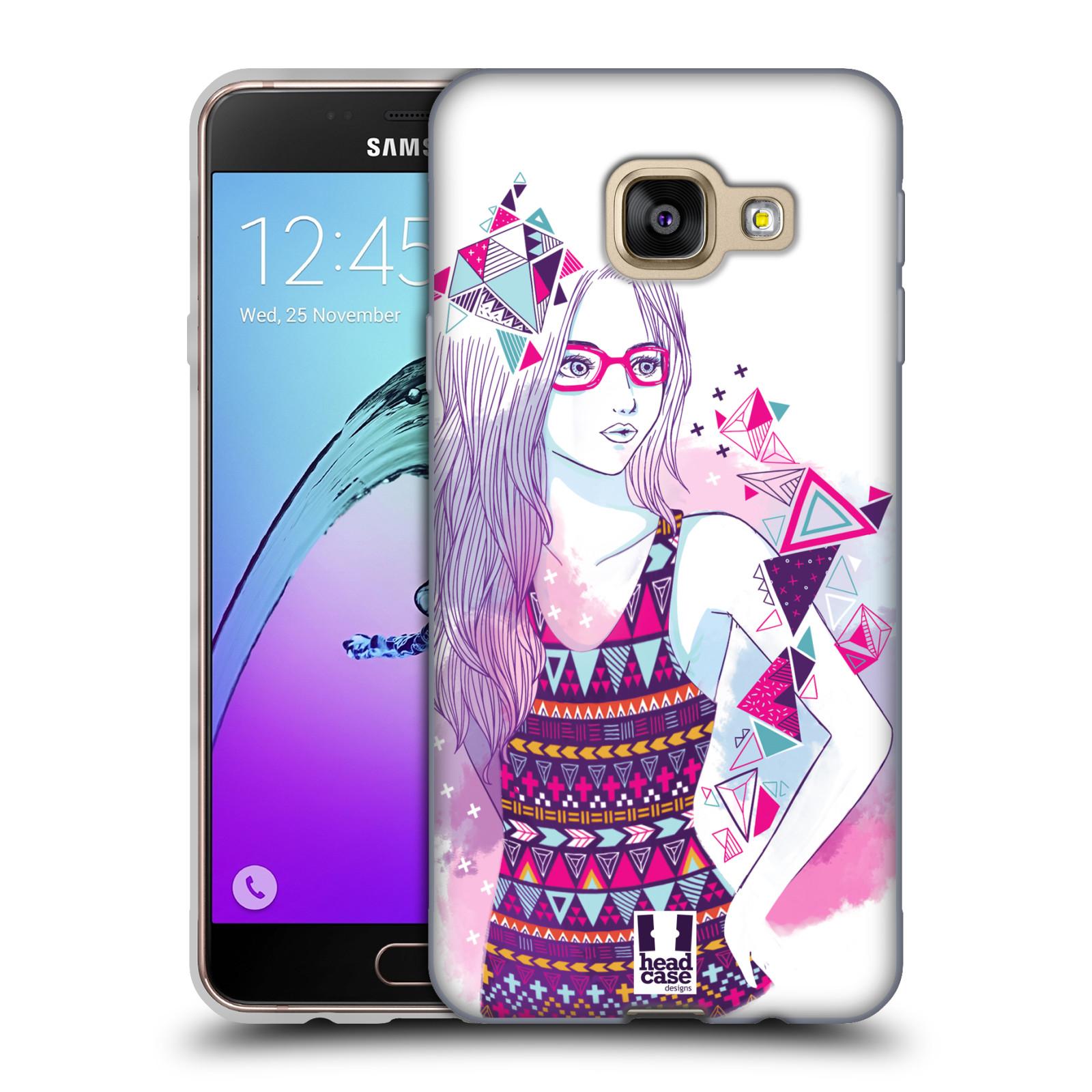 Silikonové pouzdro na mobil Samsung Galaxy A3 (2016) HEAD CASE AZTEC HOLKA