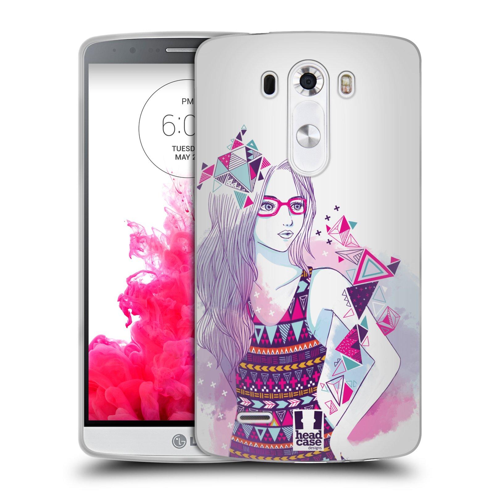 Silikonové pouzdro na mobil LG G3 HEAD CASE AZTEC HOLKA (Silikonový kryt či obal na mobilní telefon LG G3 D855)