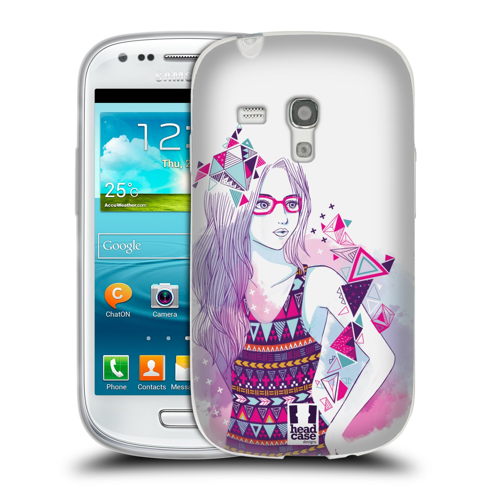 Silikonové pouzdro na mobil Samsung Galaxy S III Mini HEAD CASE AZTEC HOLKA (Silikonový kryt či obal na mobilní telefon Samsung Galaxy S III Mini GT-i8190)