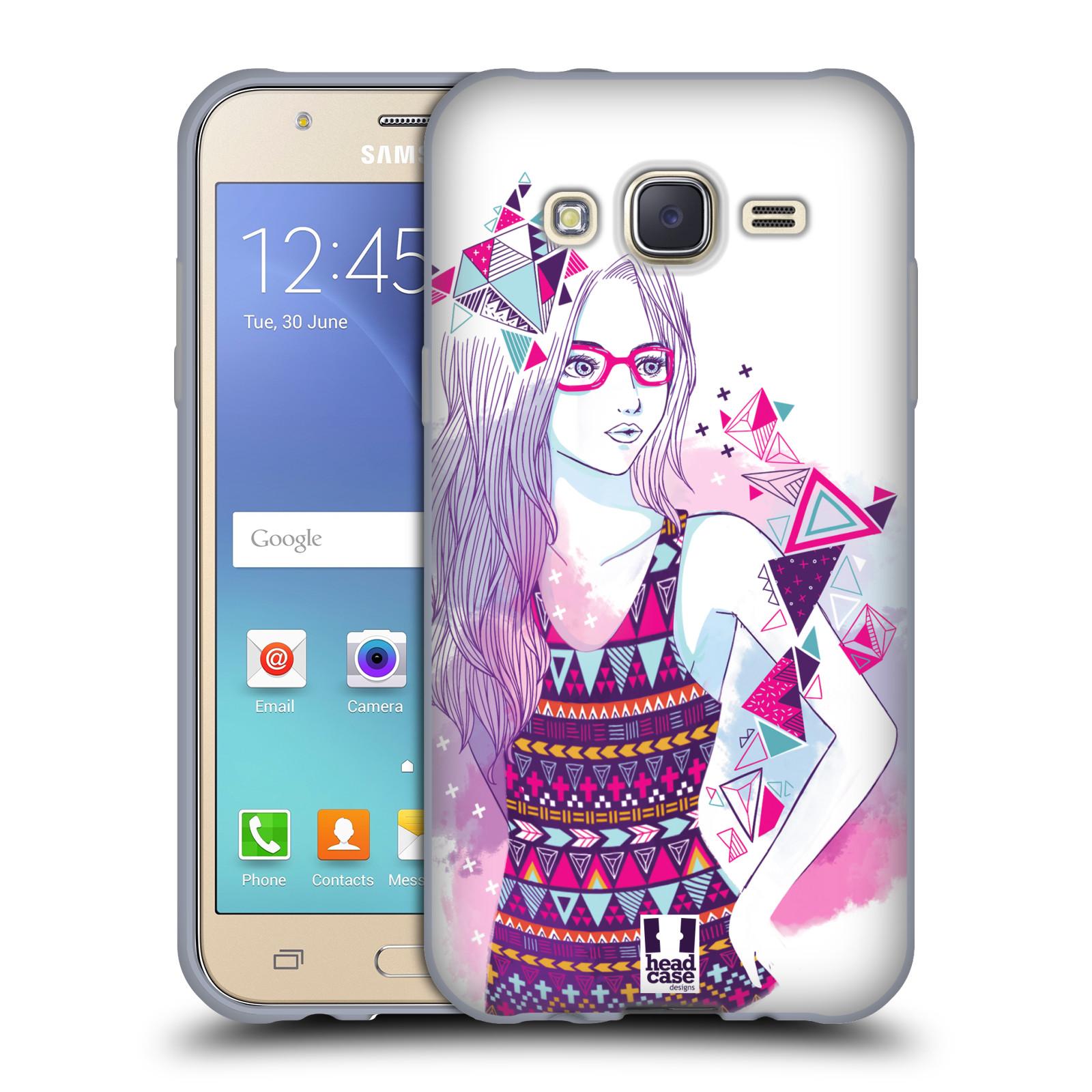 Silikonové pouzdro na mobil Samsung Galaxy J5 HEAD CASE AZTEC HOLKA