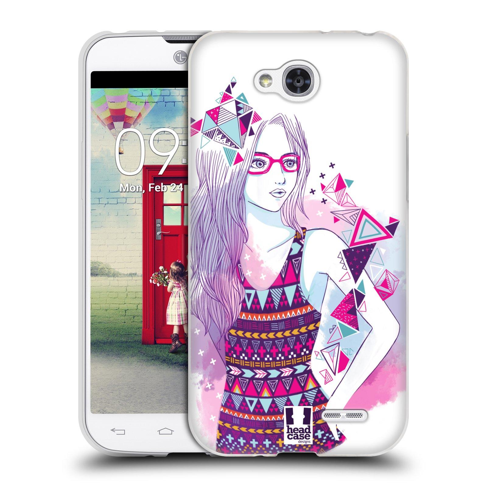 Silikonové pouzdro na mobil LG L90 HEAD CASE AZTEC HOLKA (Silikonový kryt či obal na mobilní telefon LG L90 D405n)