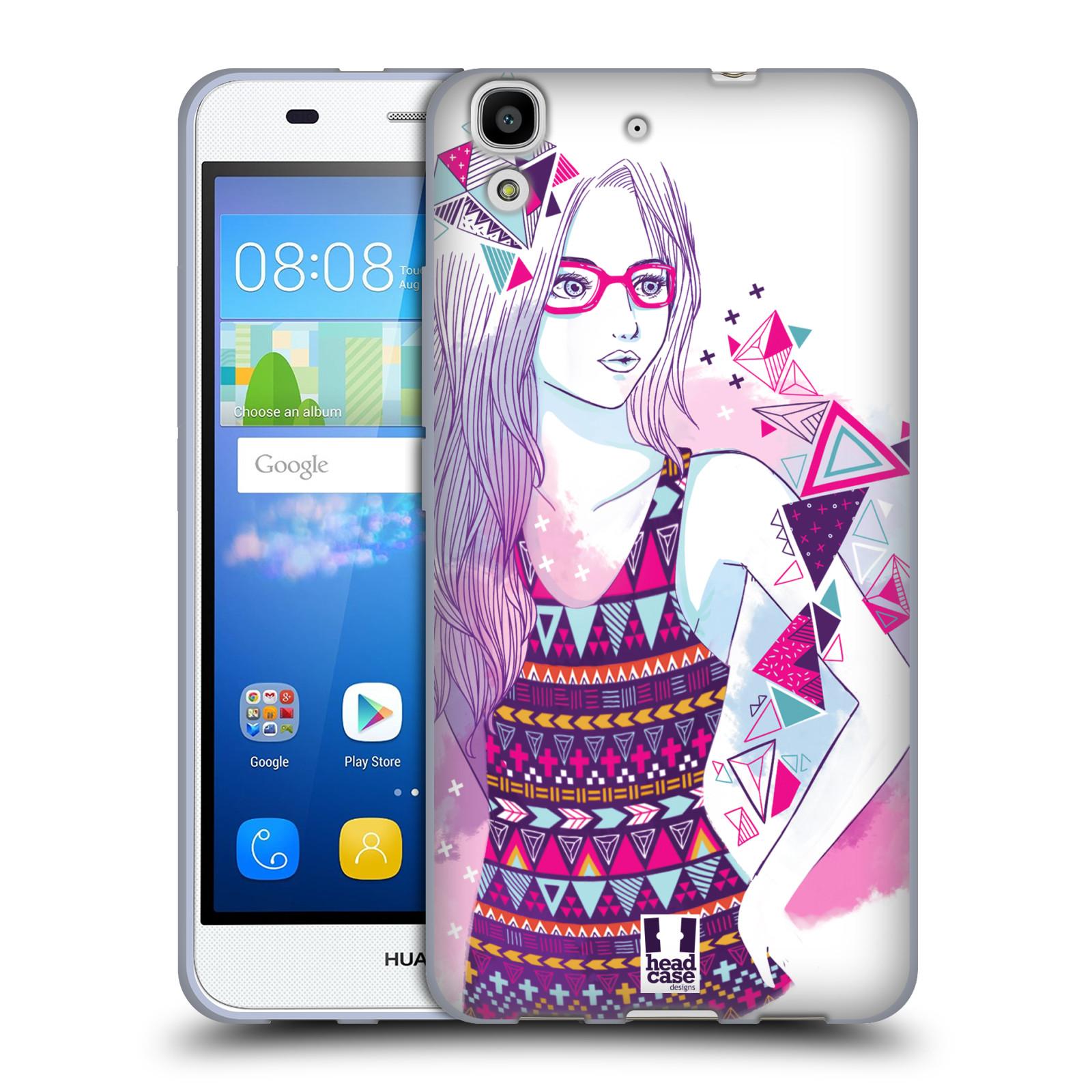 Silikonové pouzdro na mobil Huawei Y6 HEAD CASE AZTEC HOLKA