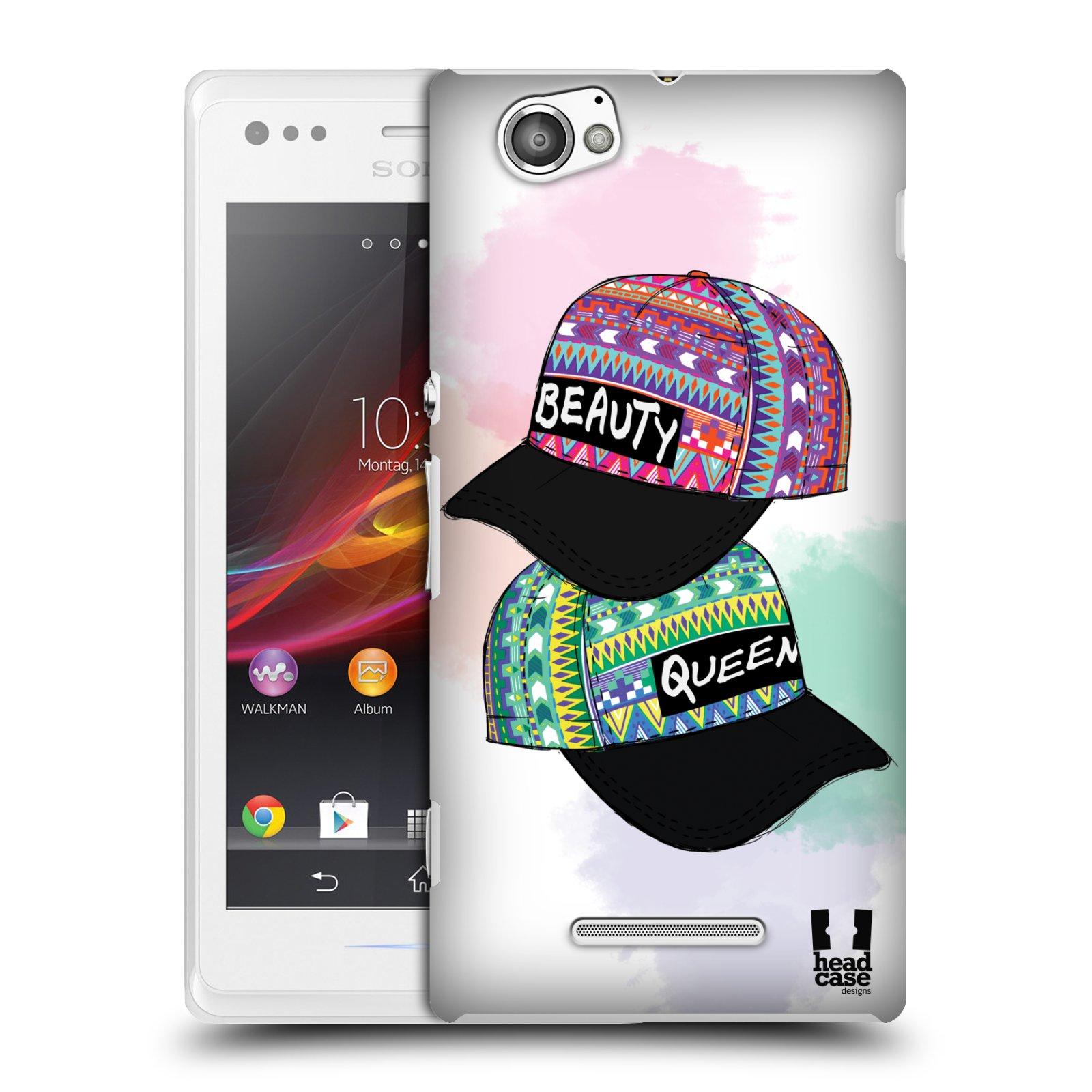 Plastové pouzdro na mobil Sony Xperia M C1905 HEAD CASE AZTEC ČAPKY