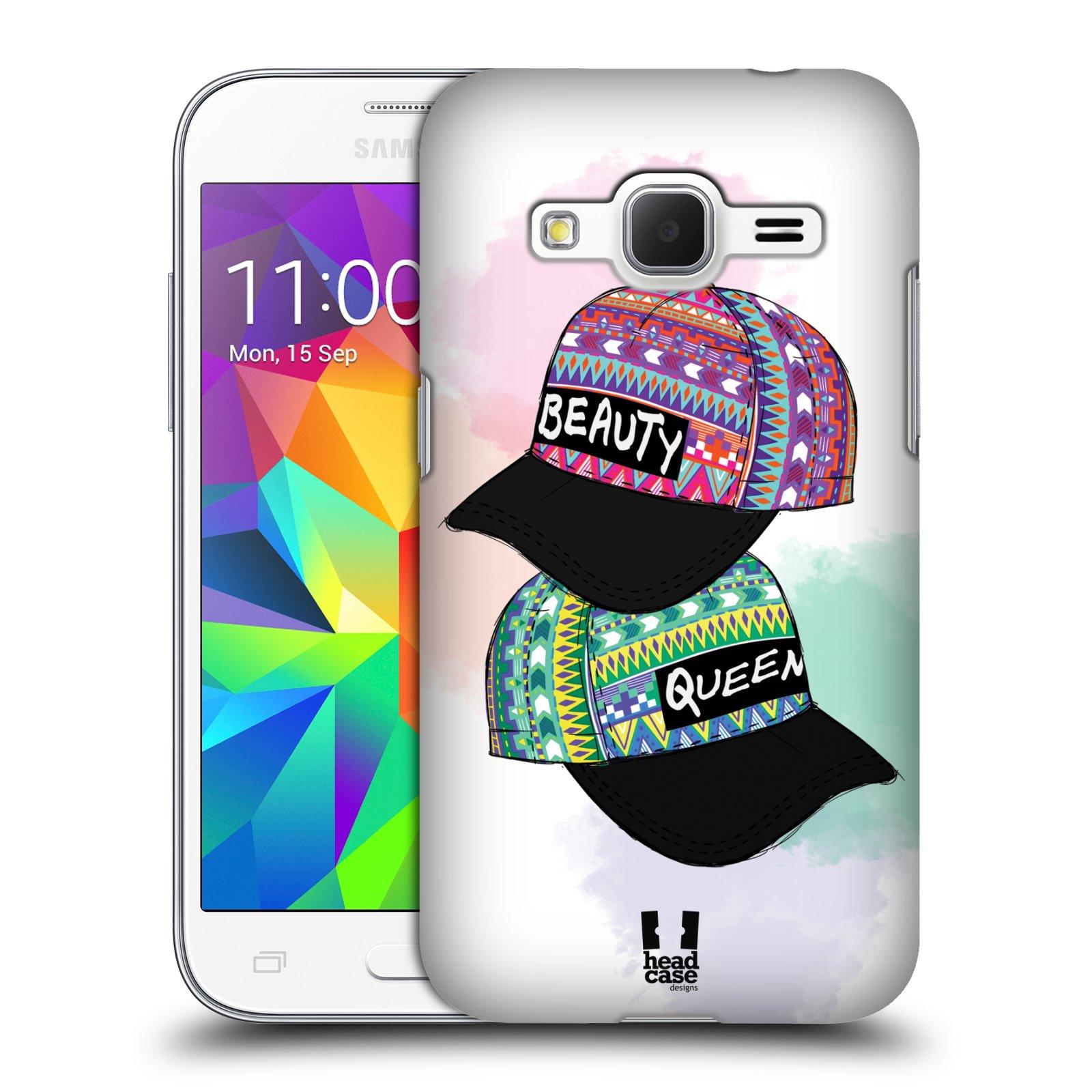 Plastové pouzdro na mobil Samsung Galaxy Core Prime VE HEAD CASE AZTEC ČAPKY