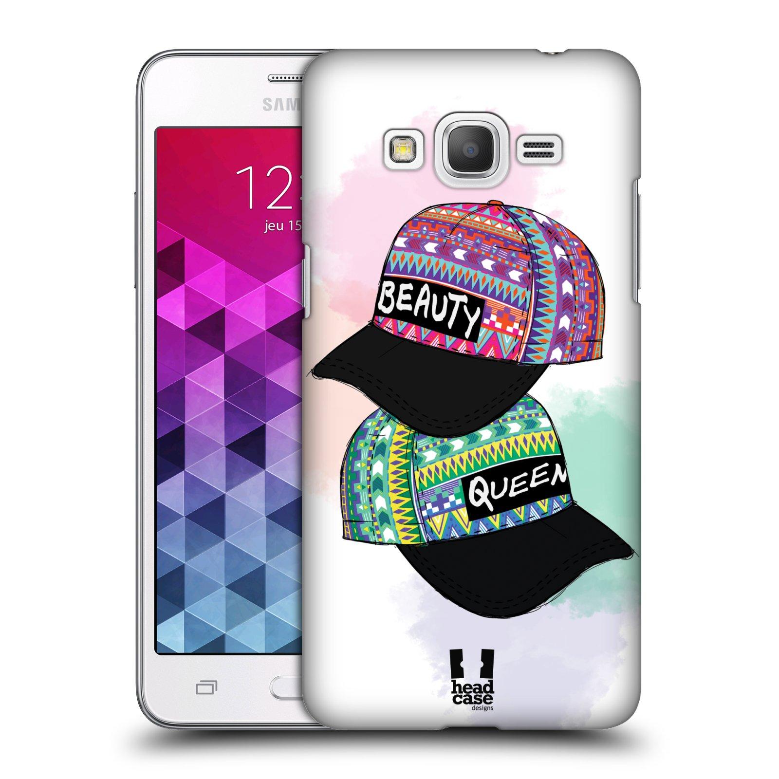 Plastové pouzdro na mobil Samsung Galaxy Grand Prime HEAD CASE AZTEC ČAPKY