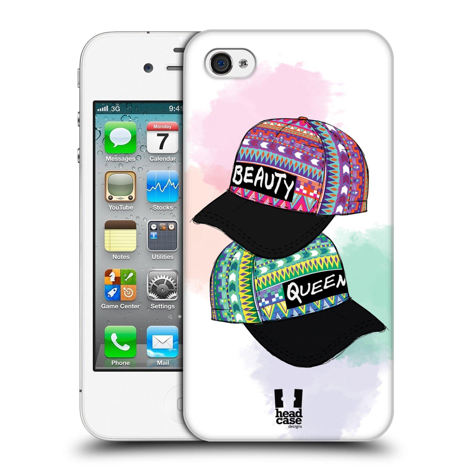 Plastové pouzdro na mobil Apple iPhone 4 a 4S HEAD CASE AZTEC ČAPKY