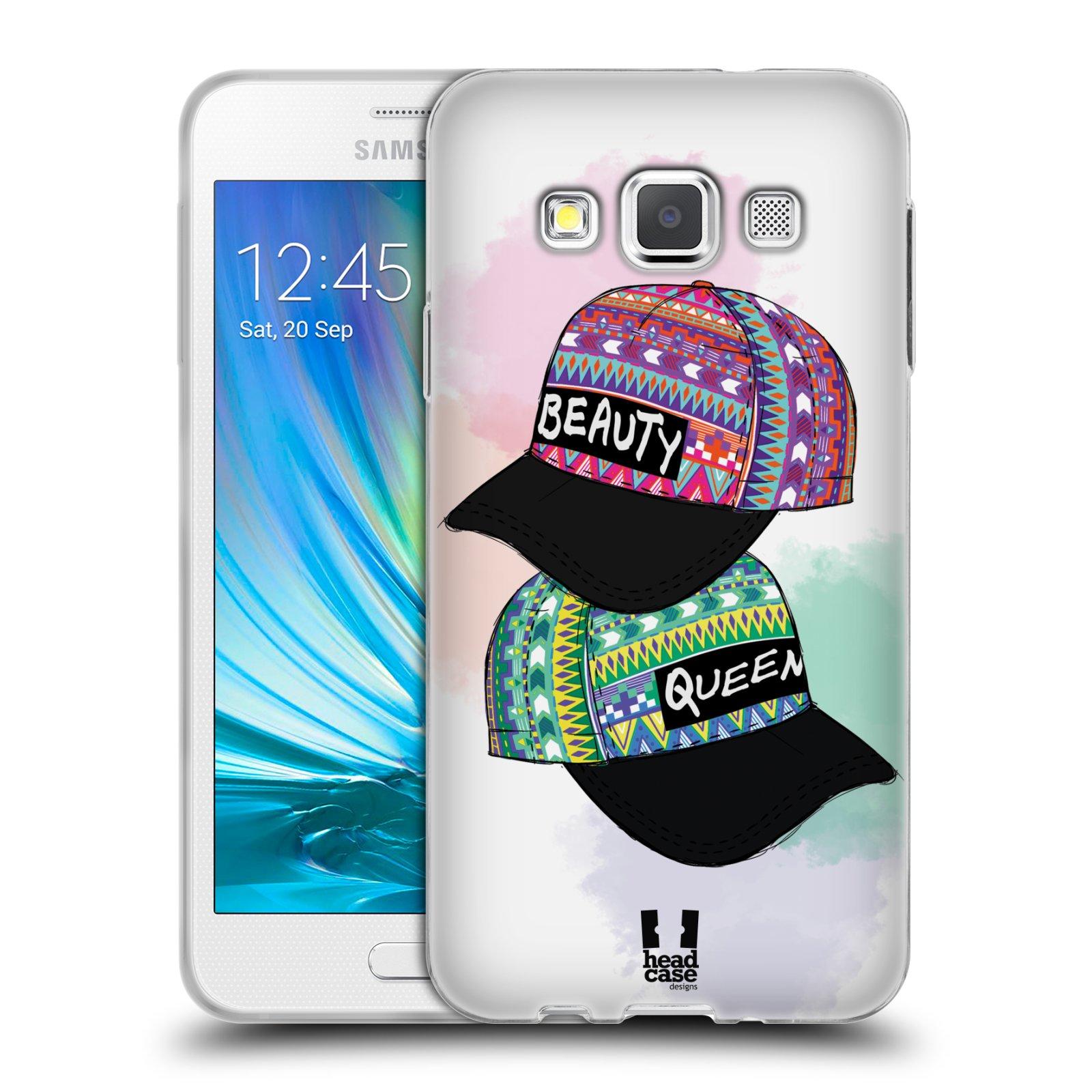 Silikonové pouzdro na mobil Samsung Galaxy A3 HEAD CASE AZTEC ČAPKY