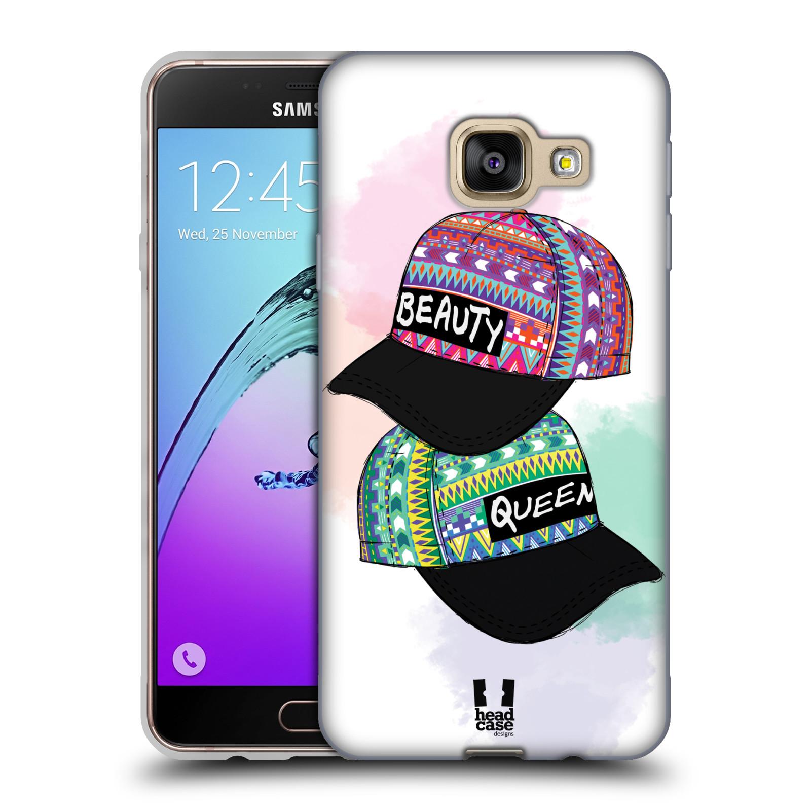 Silikonové pouzdro na mobil Samsung Galaxy A3 (2016) HEAD CASE AZTEC ČAPKY