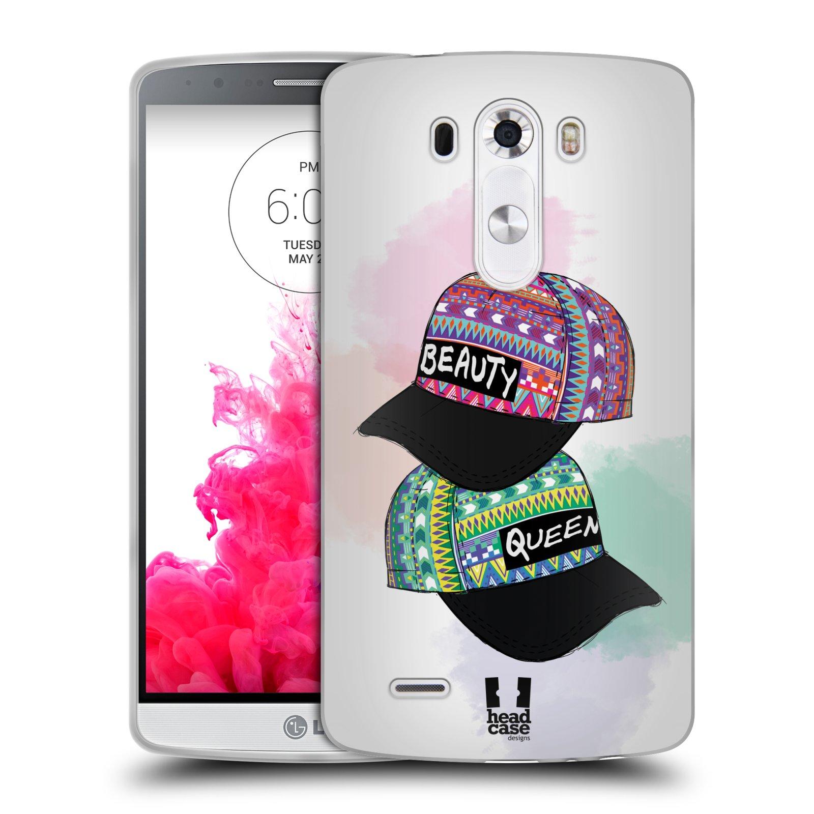 Silikonové pouzdro na mobil LG G3 HEAD CASE AZTEC ČAPKY (Silikonový kryt či obal na mobilní telefon LG G3 D855)