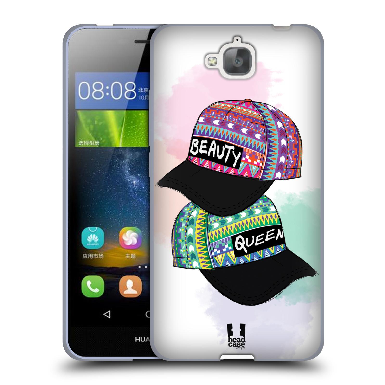 Silikonové pouzdro na mobil Huawei Y6 Pro Dual Sim HEAD CASE AZTEC ČAPKY