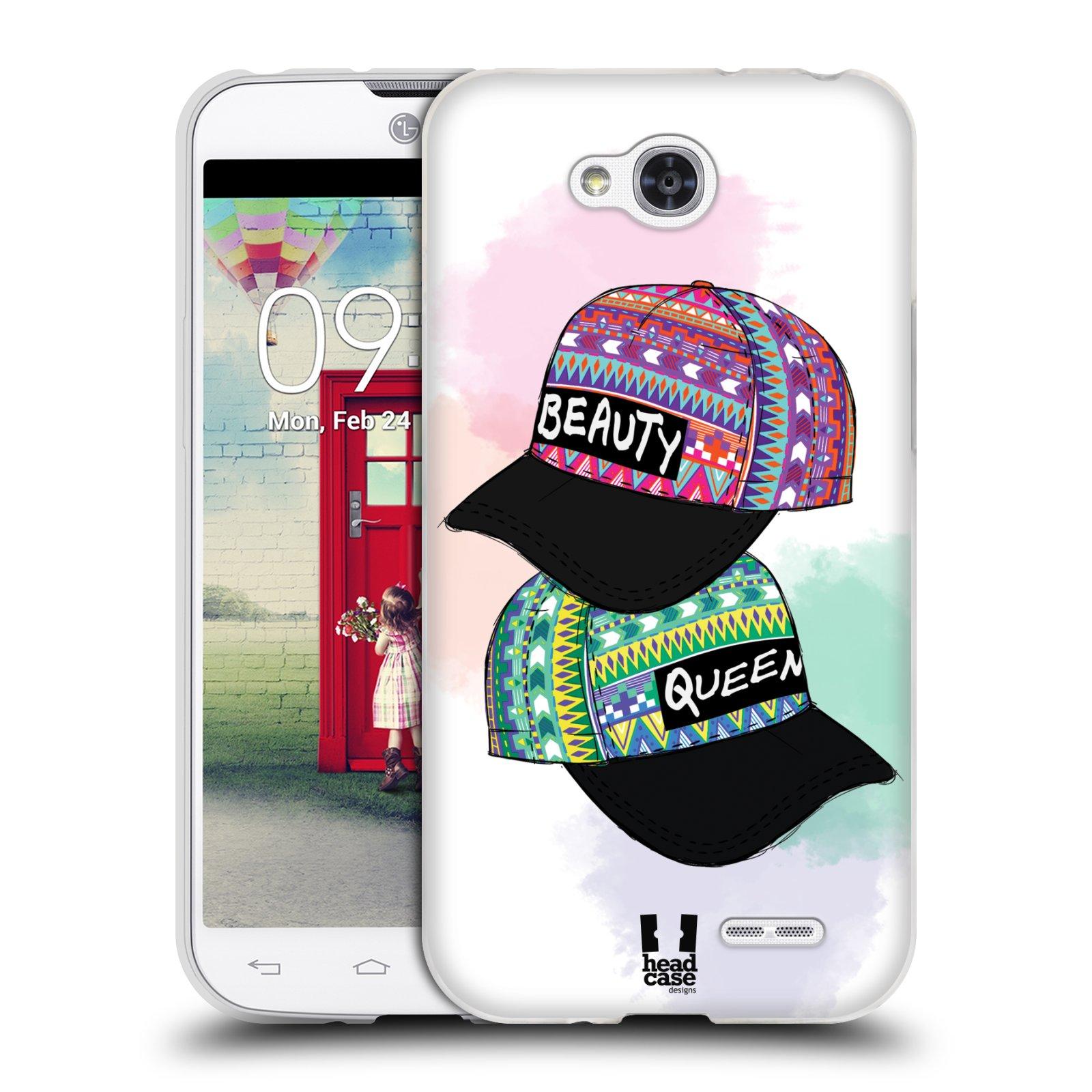 Silikonové pouzdro na mobil LG L90 HEAD CASE AZTEC ČAPKY (Silikonový kryt či obal na mobilní telefon LG L90 D405n)