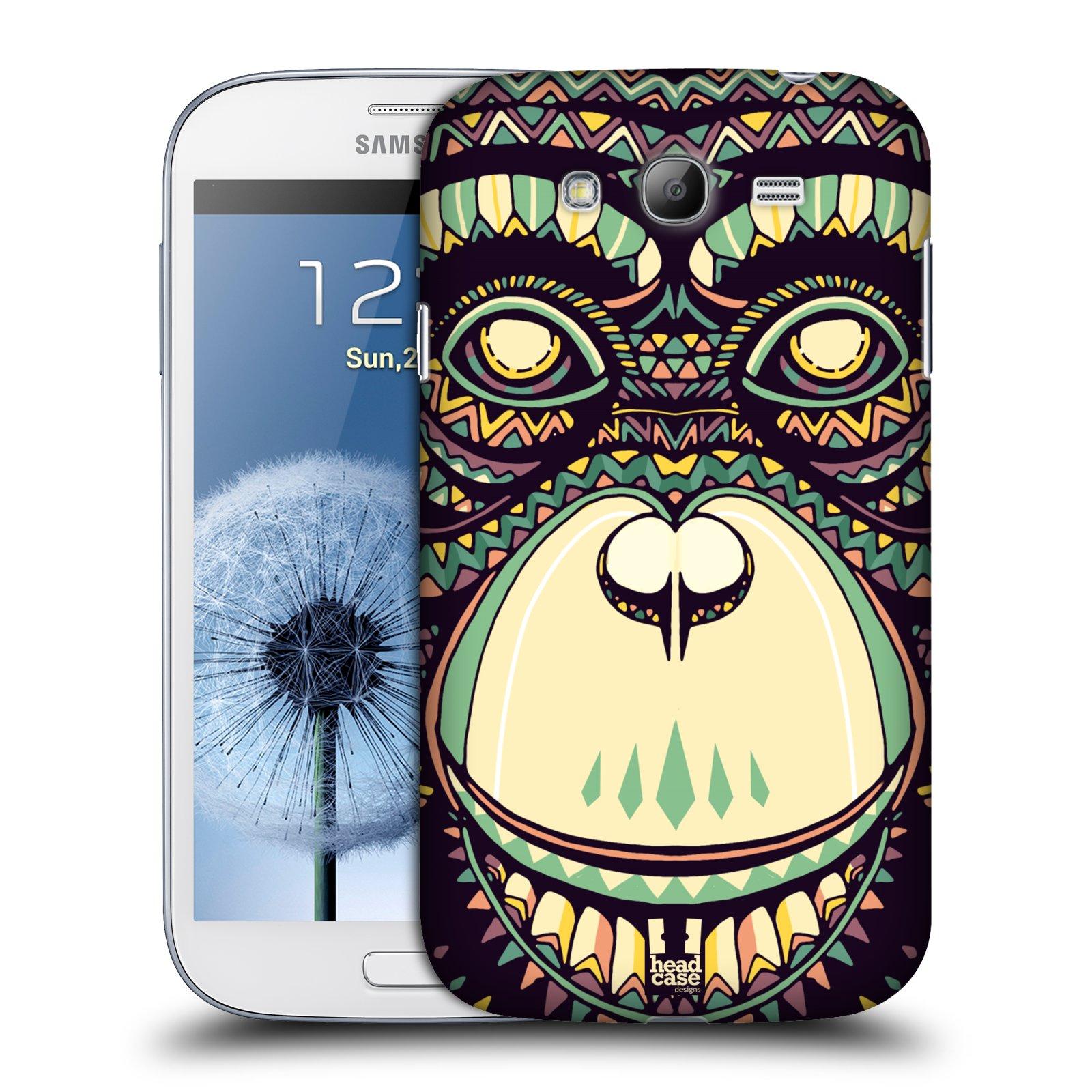 Plastové pouzdro na mobil Samsung Galaxy Grand Neo Plus HEAD CASE AZTEC ŠIMPANZ (Kryt či obal na mobilní telefon Samsung Galaxy Grand Neo Plus GT-i9060i)