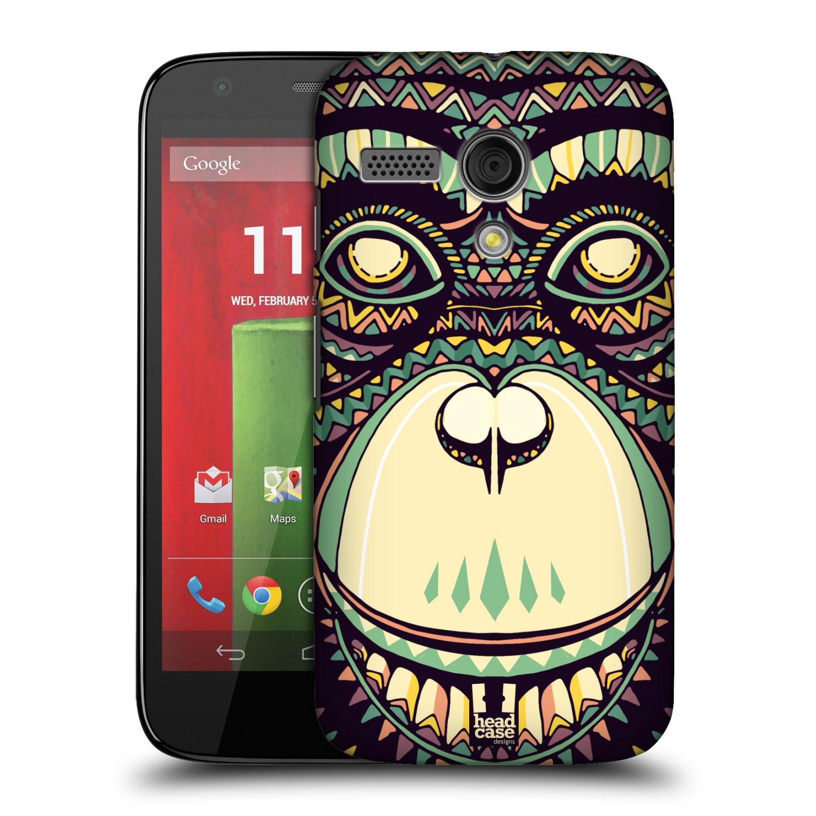 Plastové pouzdro na mobil Motorola Moto G HEAD CASE AZTEC ŠIMPANZ (Kryt či obal na mobilní telefon Motorola Moto G)