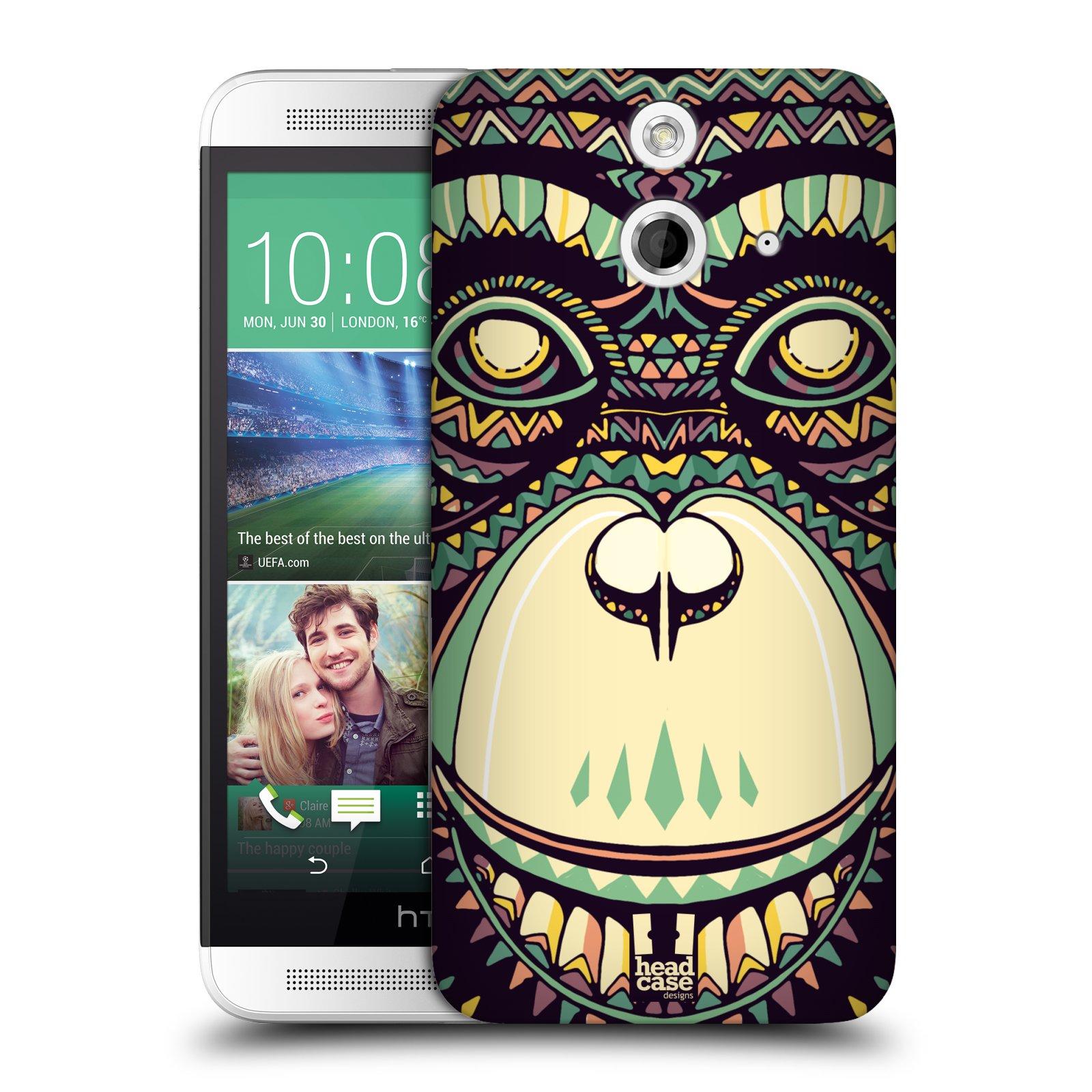 Plastové pouzdro na mobil HTC ONE E8 HEAD CASE AZTEC ŠIMPANZ (Kryt či obal na mobilní telefon HTC ONE E8)