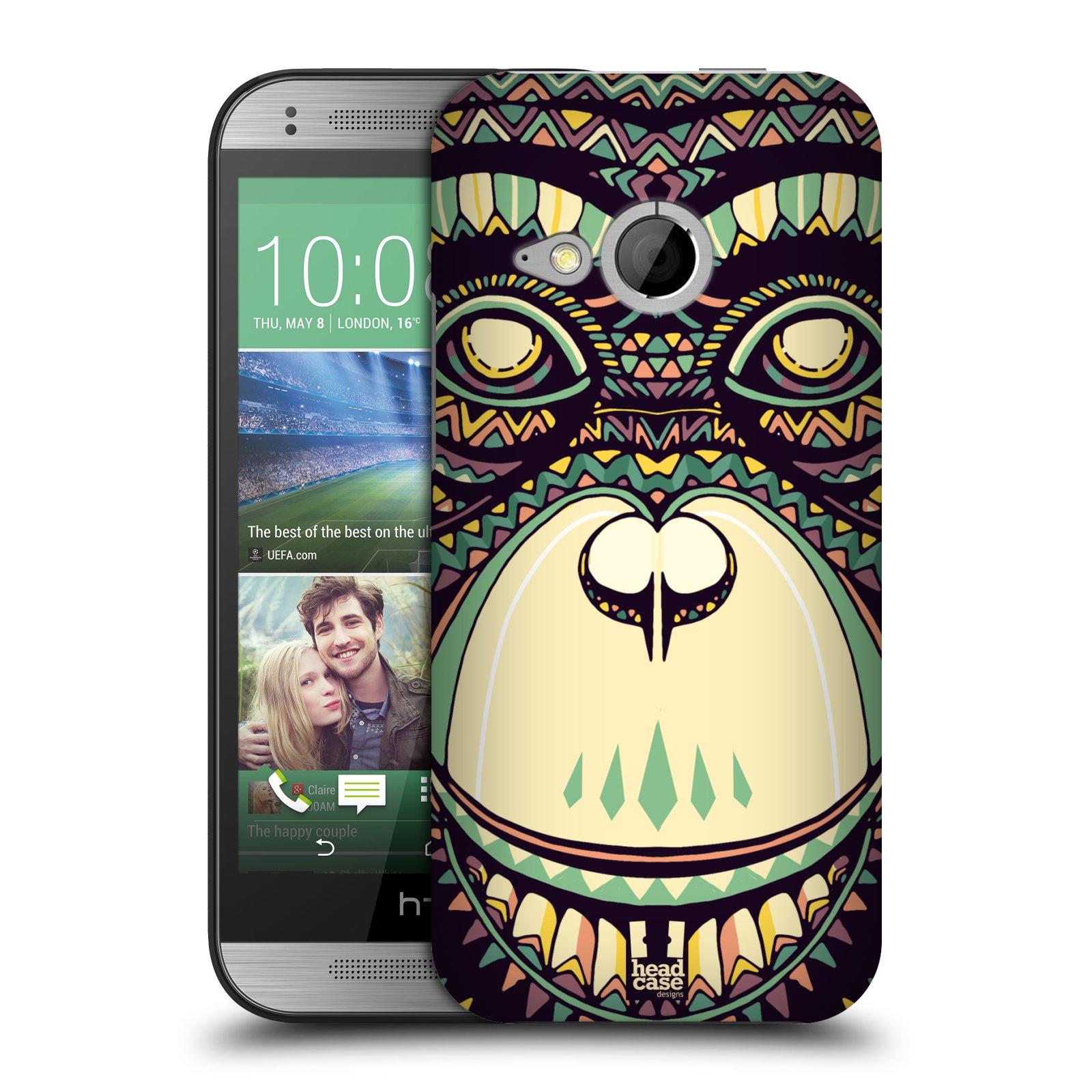 Plastové pouzdro na mobil HTC ONE Mini 2 HEAD CASE AZTEC ŠIMPANZ