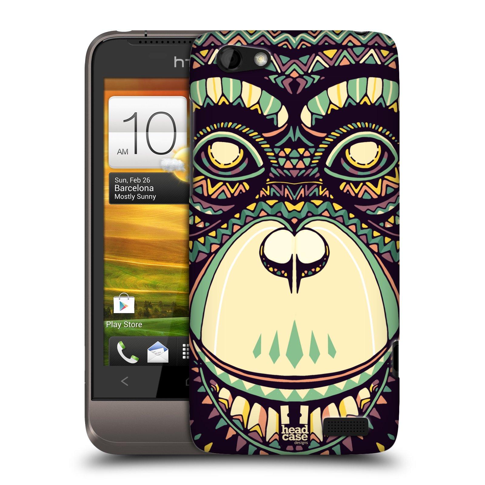 Plastové pouzdro na mobil HTC ONE V HEAD CASE AZTEC ŠIMPANZ (Kryt či obal na mobilní telefon HTC ONE V)