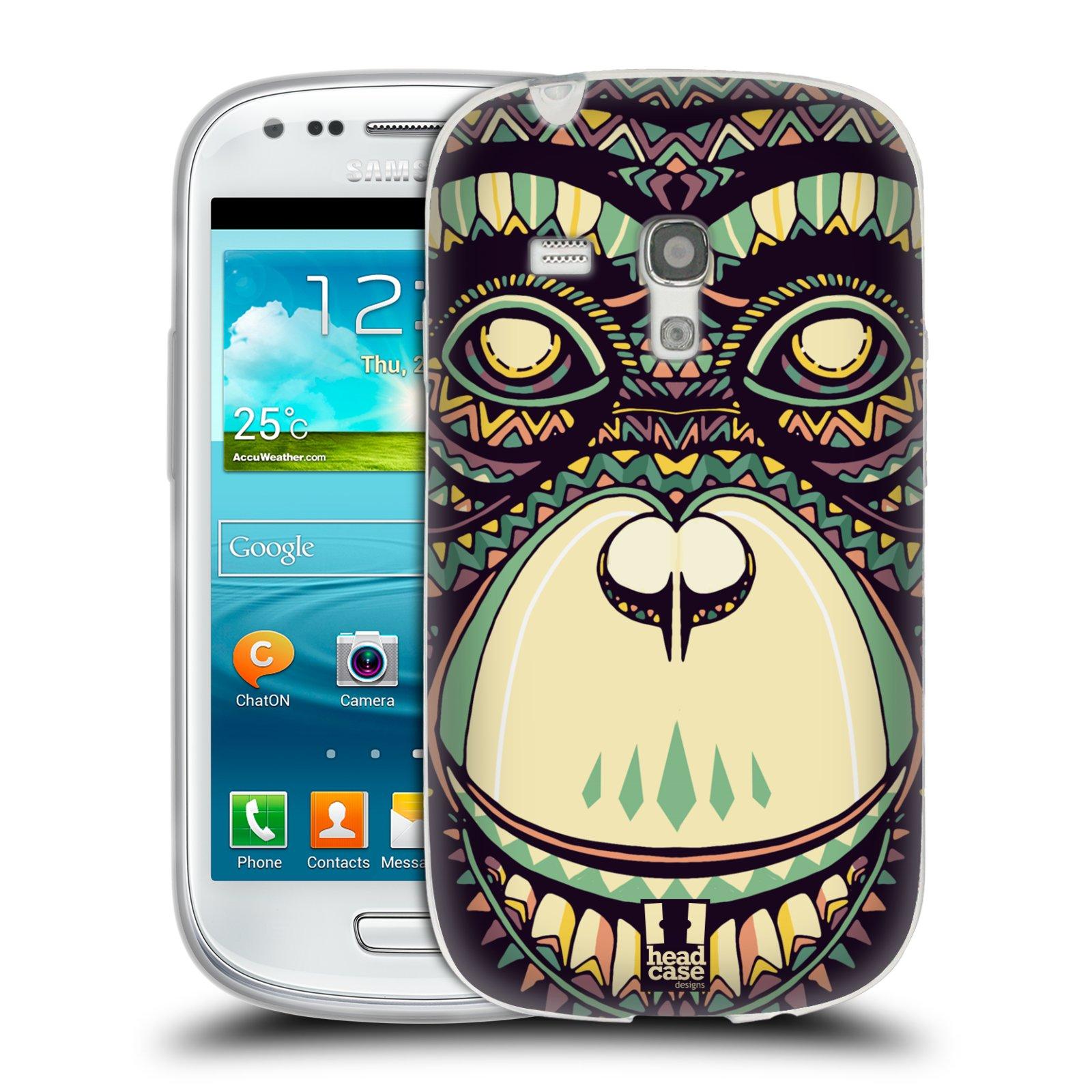 Silikonové pouzdro na mobil Samsung Galaxy S III Mini HEAD CASE AZTEC ŠIMPANZ (Silikonový kryt či obal na mobilní telefon Samsung Galaxy S III Mini GT-i8190)