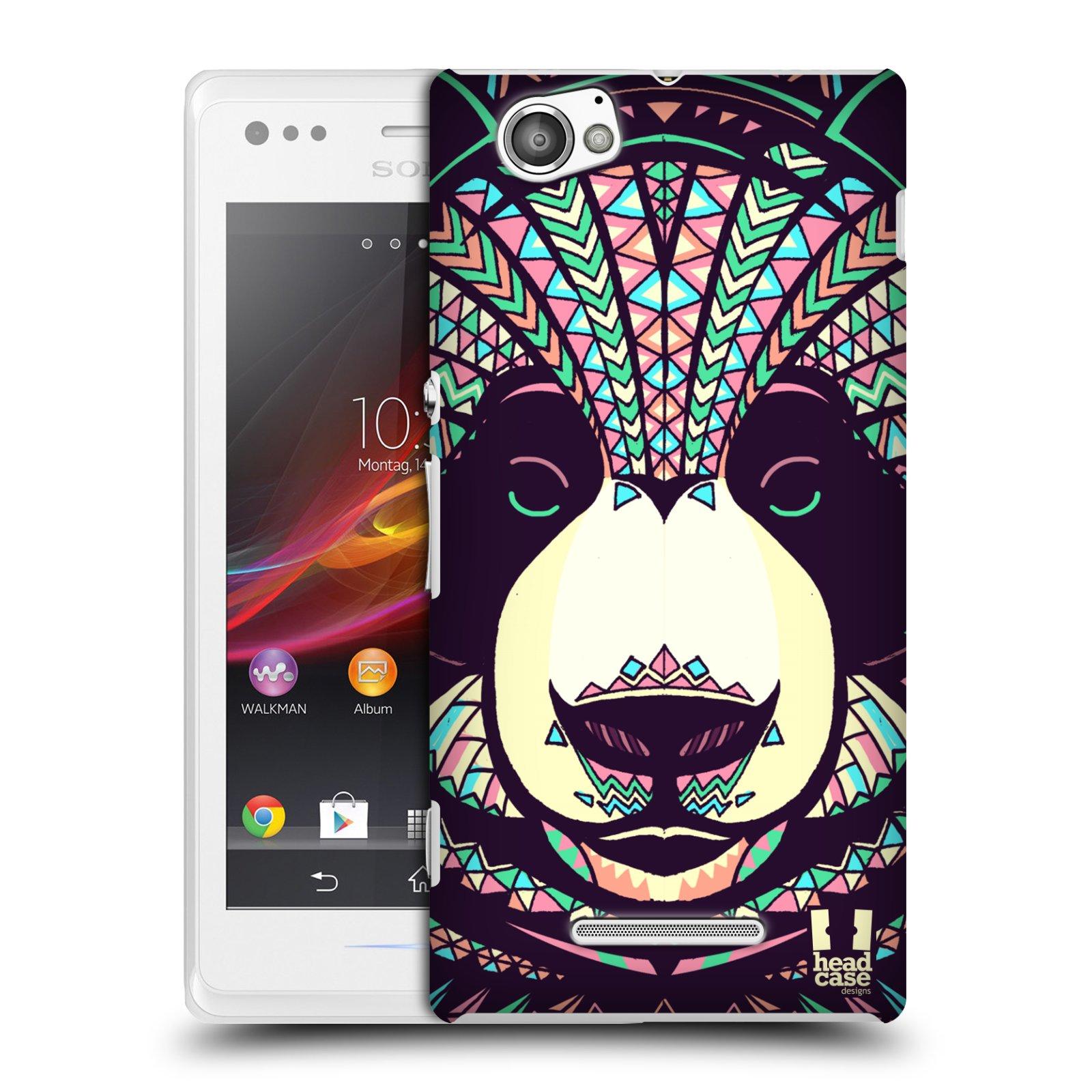 Plastové pouzdro na mobil Sony Xperia M C1905 HEAD CASE AZTEC PANDA
