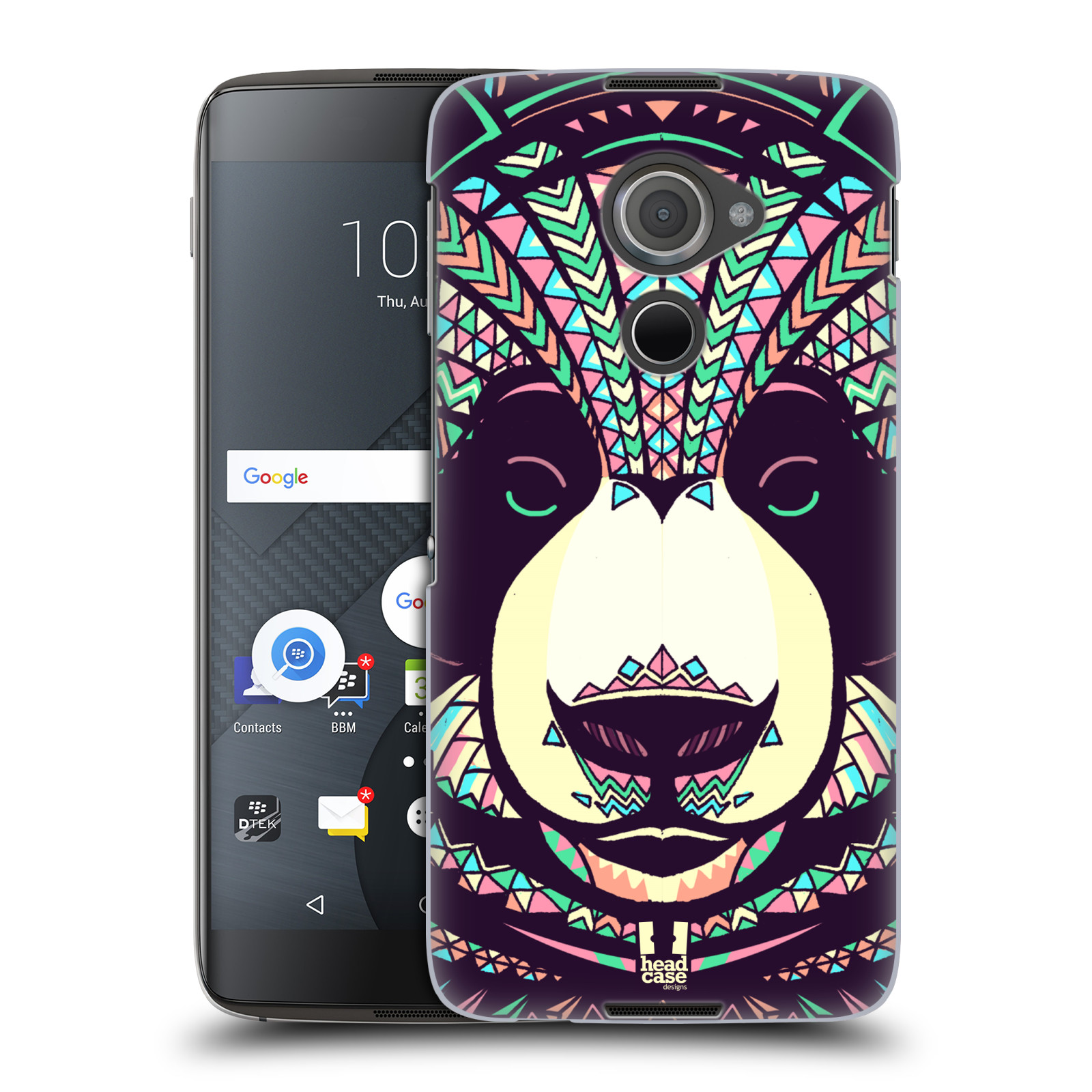 Plastové pouzdro na mobil Blackberry DTEK60 (Argon) - Head Case AZTEC PANDA