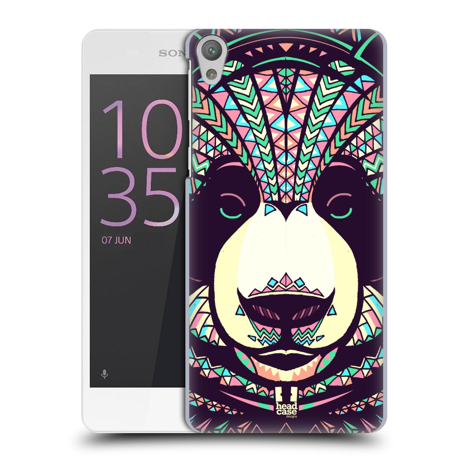 Plastové pouzdro na mobil Sony Xperia E5 HEAD CASE AZTEC PANDA